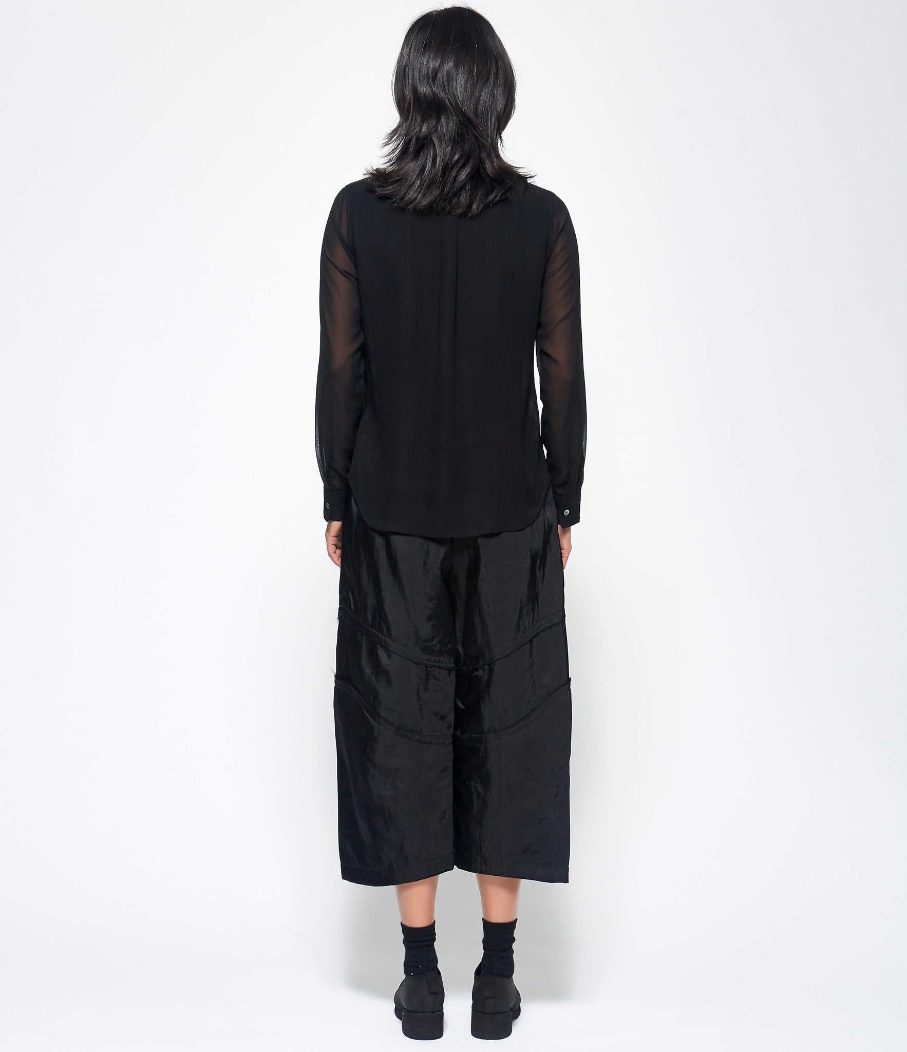 Comme Des Garcons Polyester Thick Georgette Shirt
