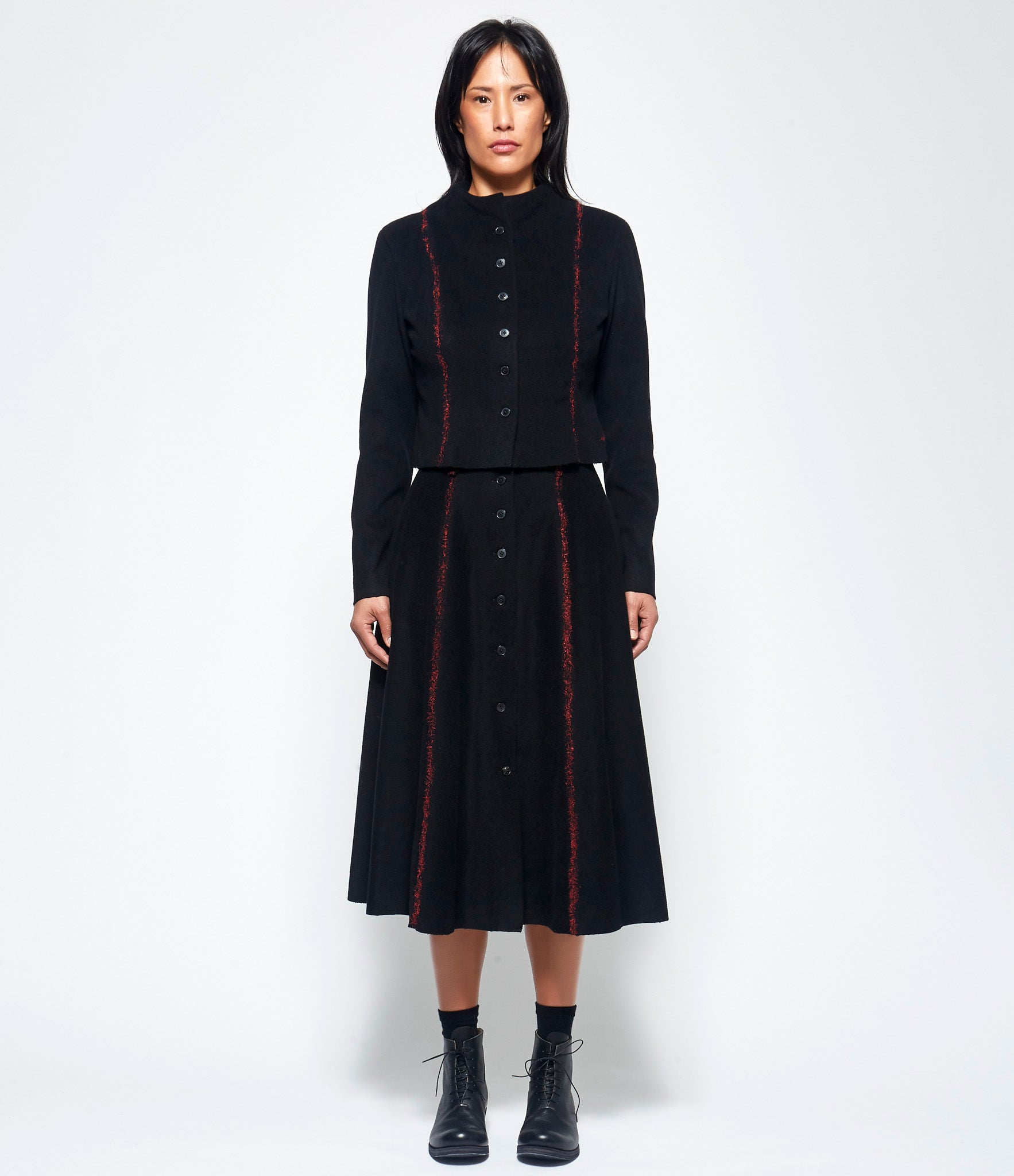 m.a+ 8 Panel Buttoned Skirt