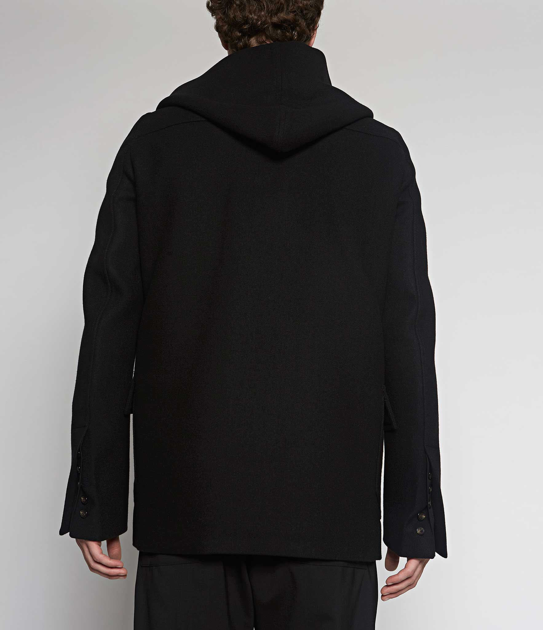 Rick Owens Toggle Hooded Jacket