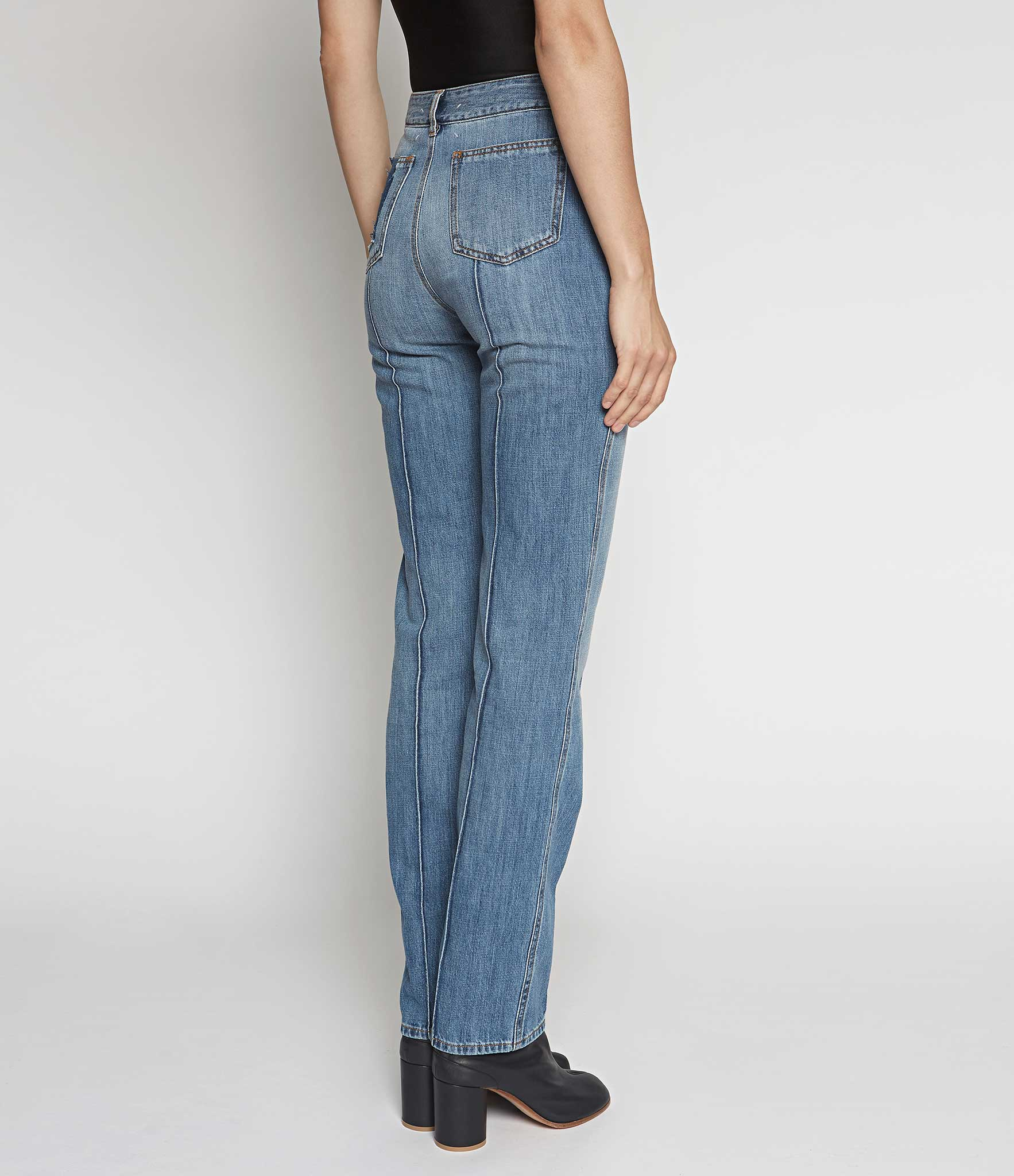 Maison Margiela Faded High Waist Denim