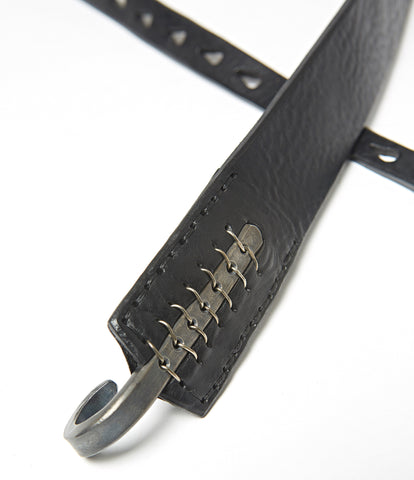 Johnny Farah Multihole Hook Leather Belt