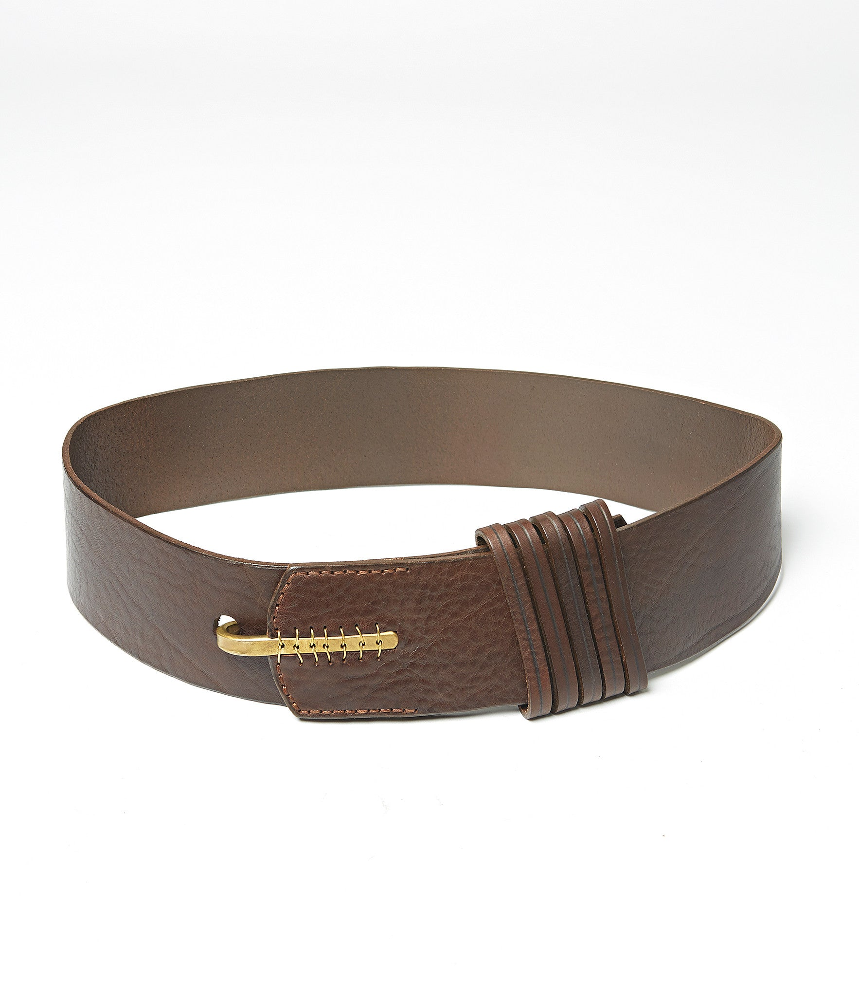 Johnny Farah 5 Loop Hook Leather Belt