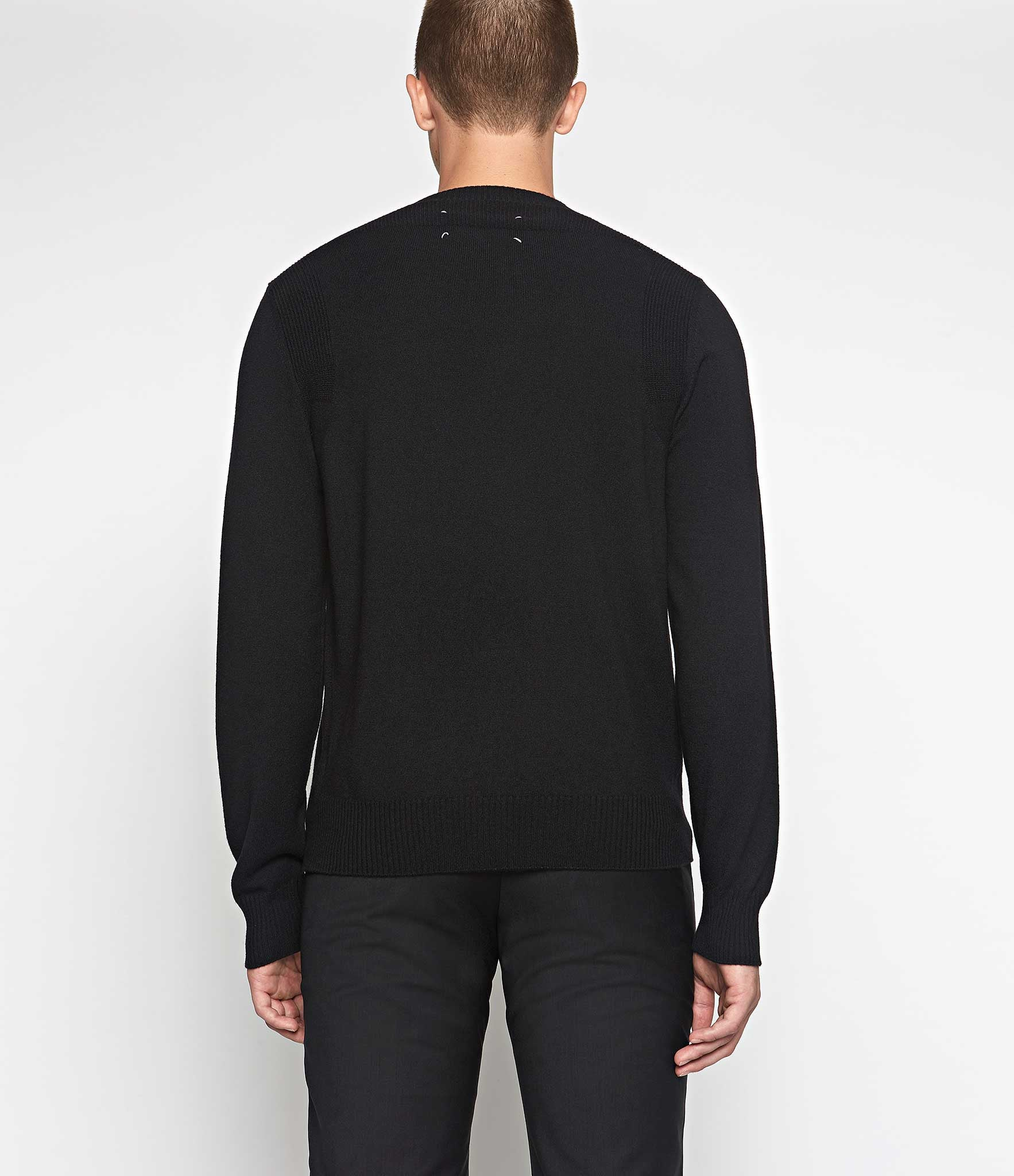 Maison Margiela Ribbed Shoulder Sweater