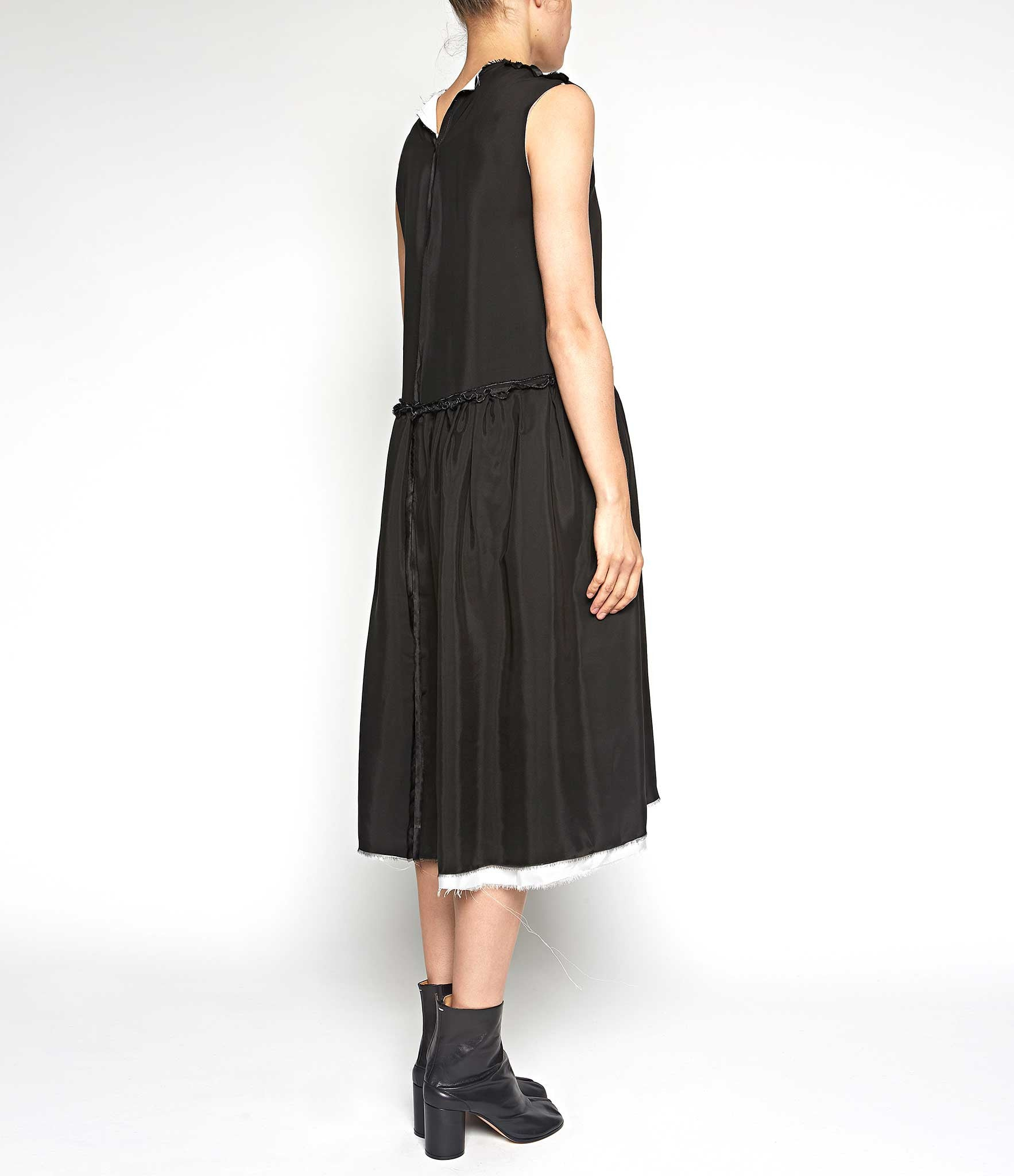 Maria Turri Black Layered Silk Dress