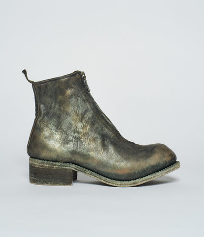 Guidi PL1 Limited Edition Camo Horse Full Grain Front Zip Ankle Boots