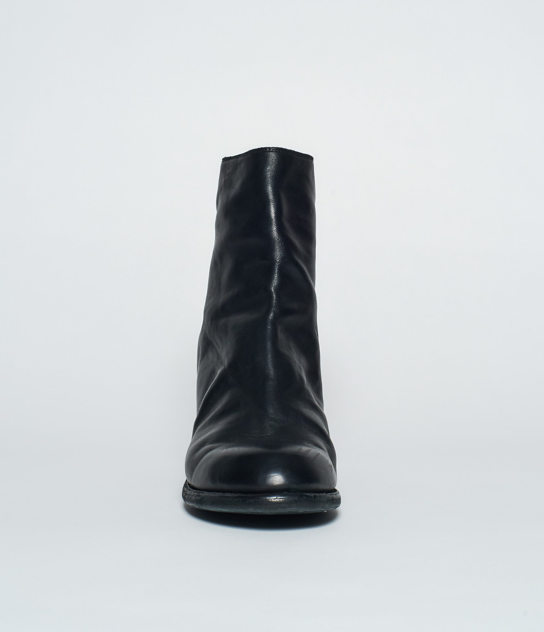 Guidi M86 Black Soft Horse Full Grain High Heel Boot