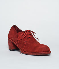 Guidi M82 Red Soft Horse Reverse Lace Up High Heel Derby