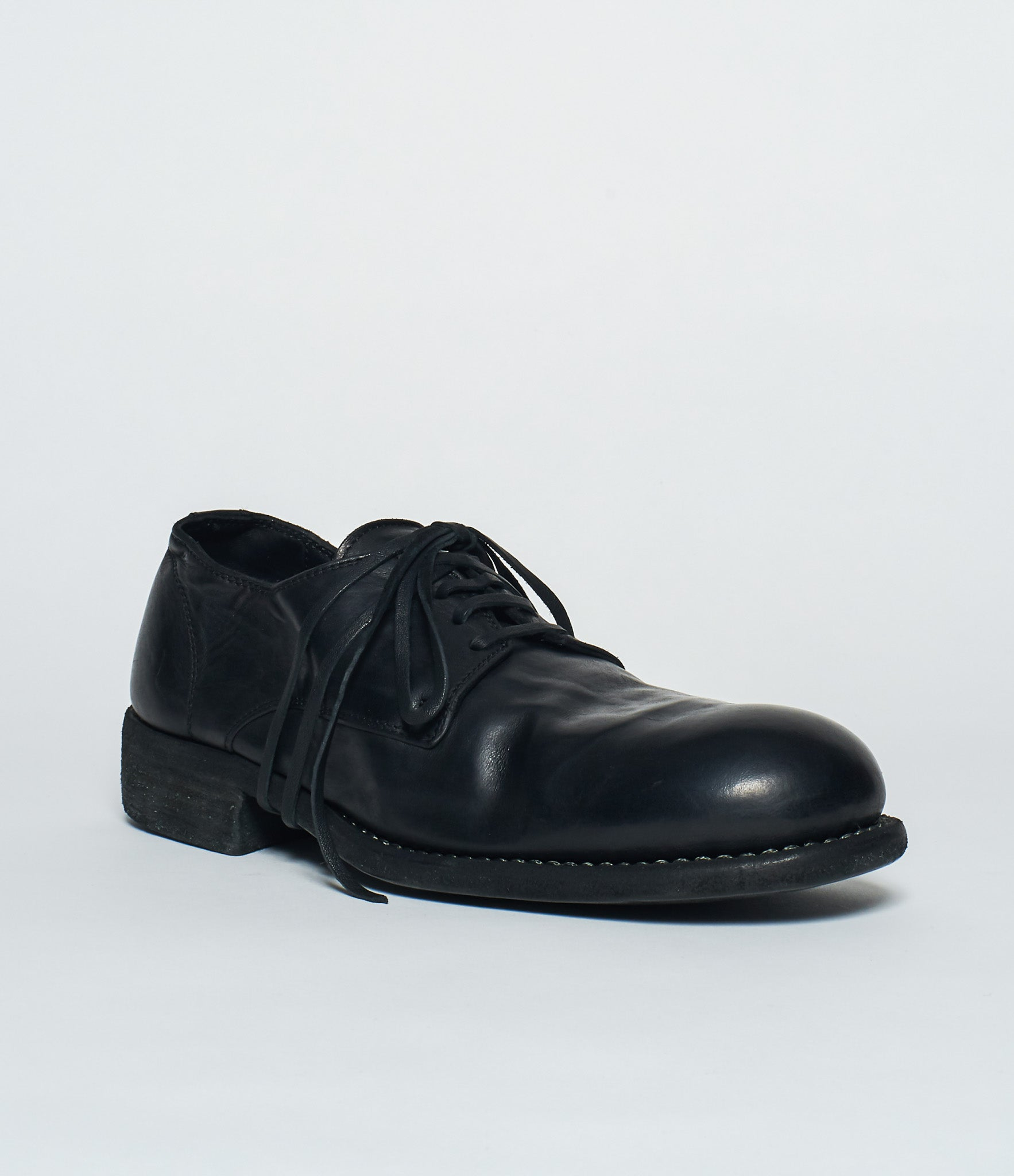 Guidi 992 Black Soft Horse Full Grain Derby