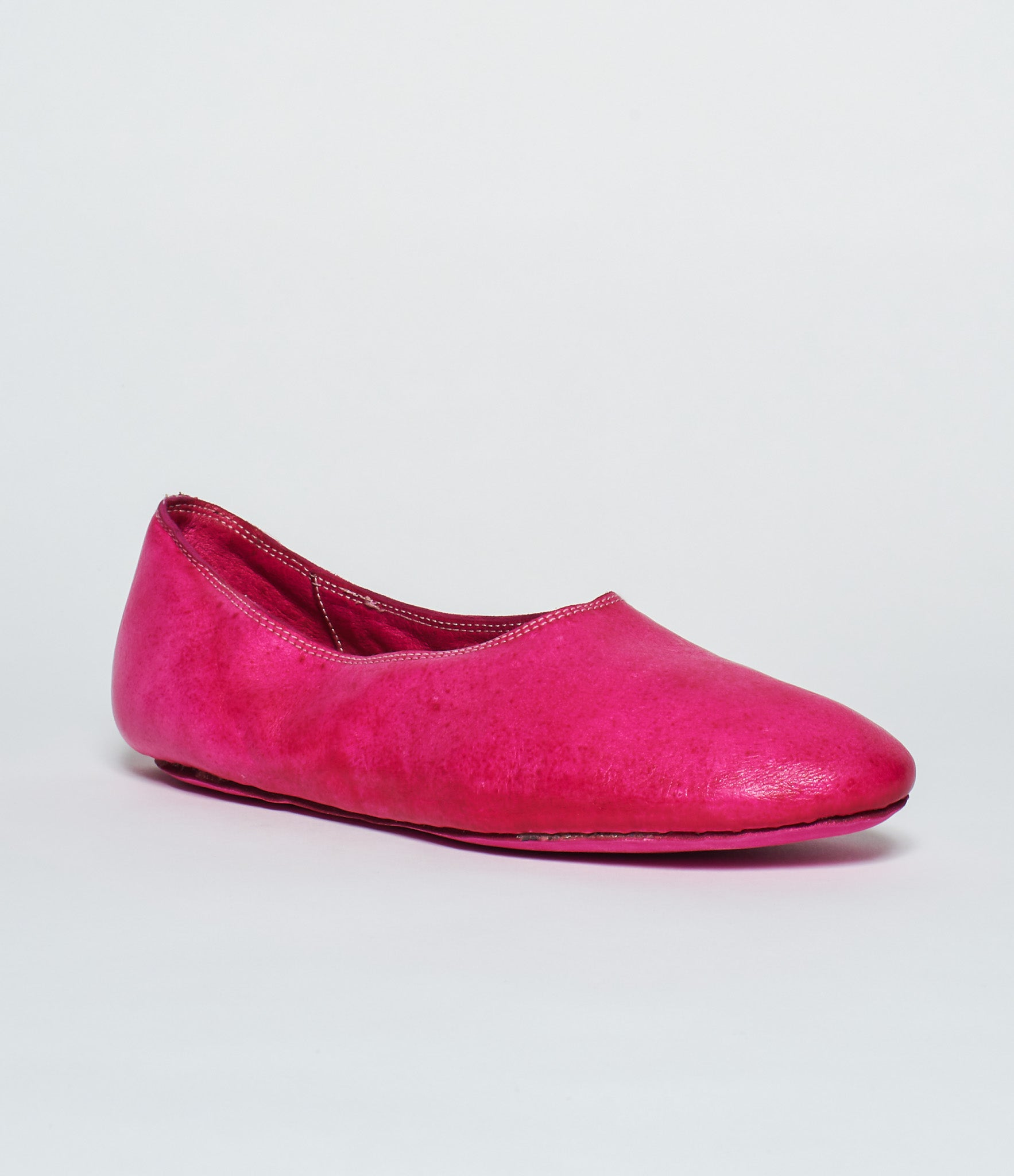 Guidi 626 Fuschia Kangaroo Full Grain Ballet Flat