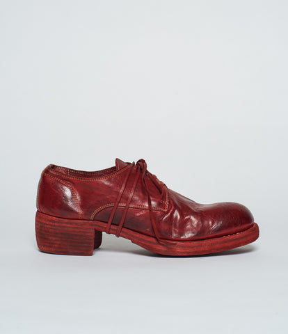 Guidi 792Z Red Soft Horse Full Grain Stacked Derby