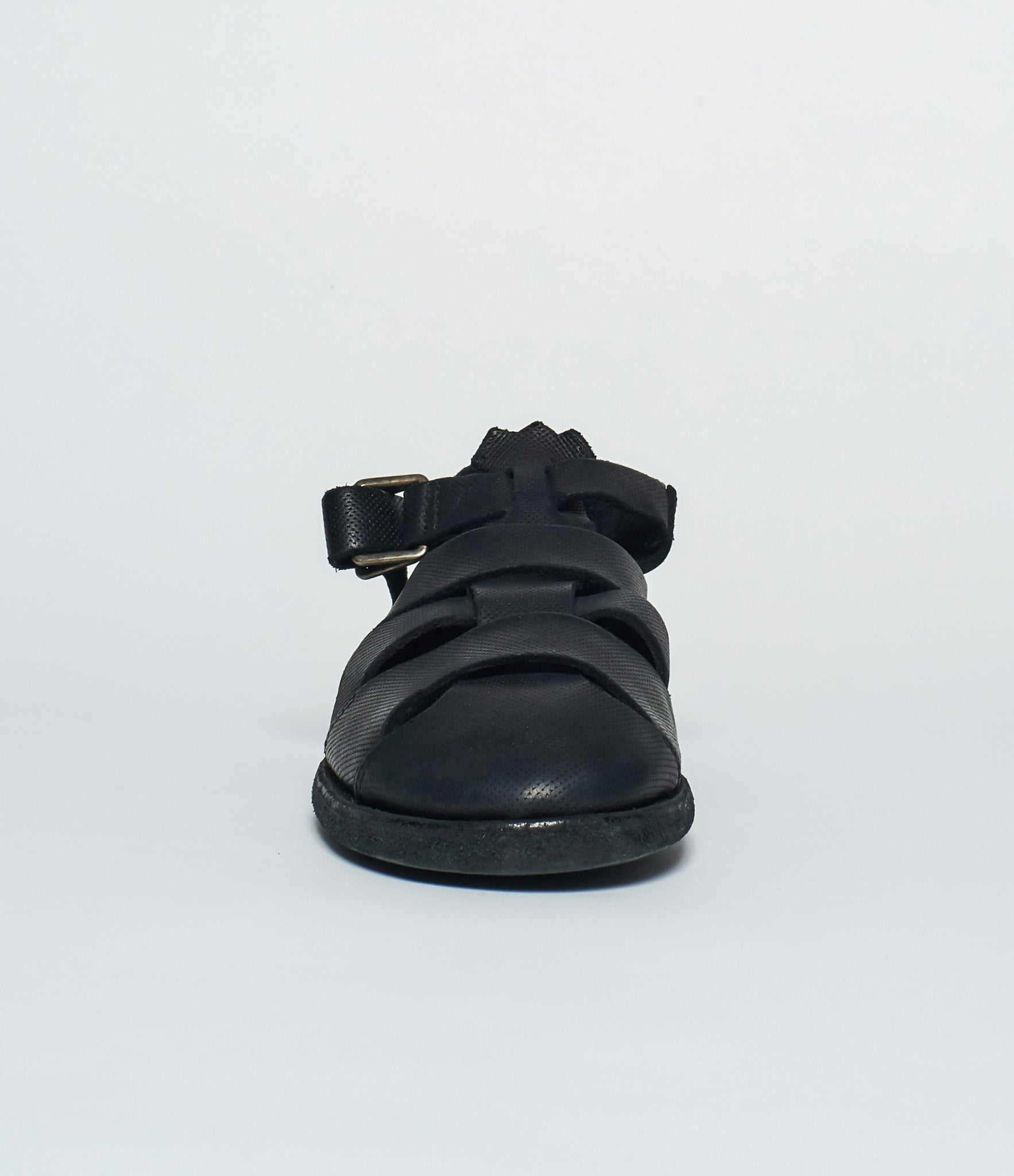 Guidi S02 Buckled Perforated Calf Full Grain Fisherman Sandals