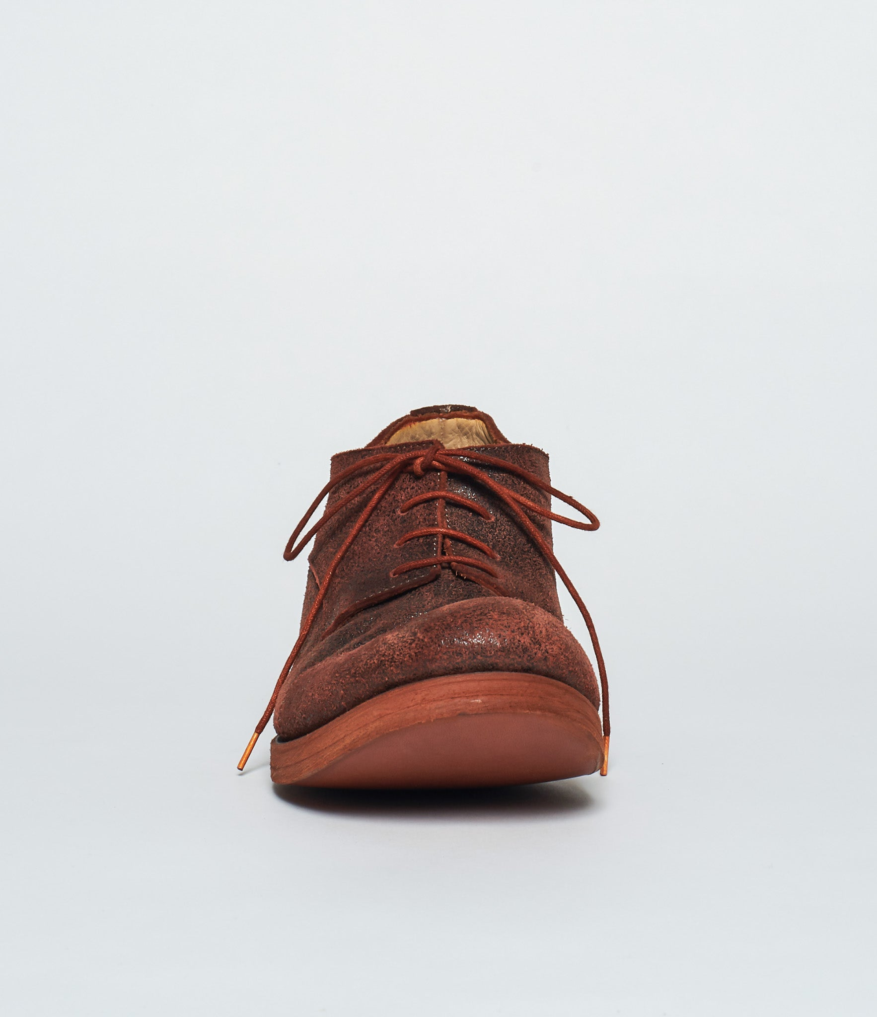 m.a+ Red Burnt Bison Reverse Cap Toe Derby