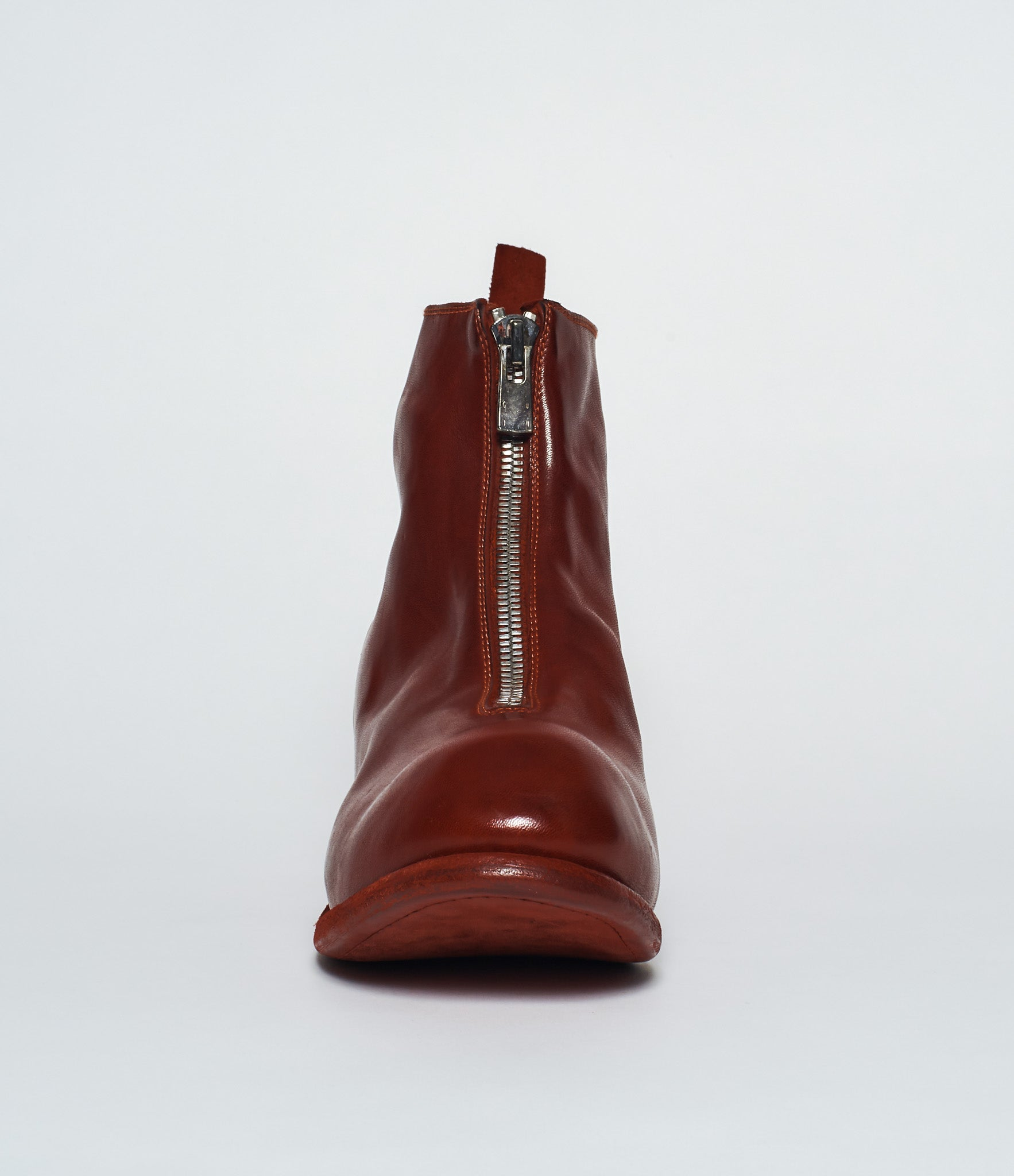 Guidi PL1 Red Horse Full Grain Front Zip Ankle Boots