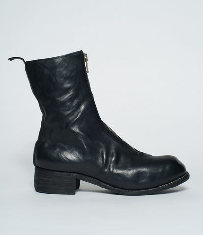Guidi PL2 Black Horse Full Grain Front Zip Calf Length Boots