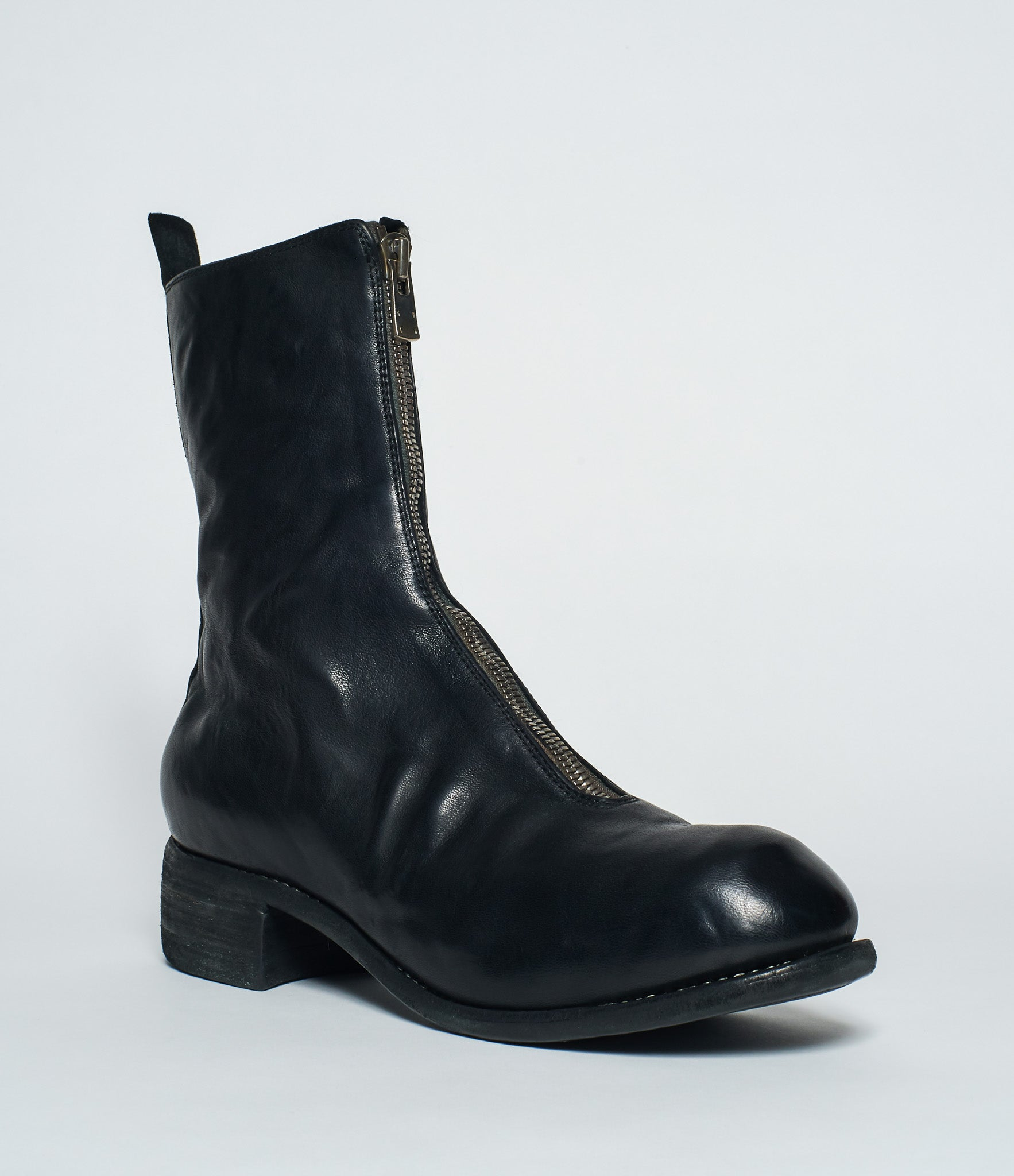 Calf Length Black Front Full Grain Guidi Pl2 Zip Boots Horse