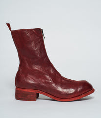 Guidi PL2 Red Horse Full Grain Front Zip Calf-Length Boots