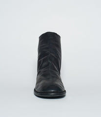 Guidi 986MS Vintage Black Kangaroo Full Grain Back Zip Boots