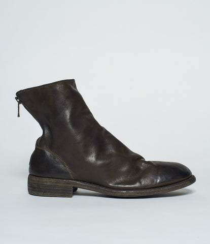 Guidi 986 Olive Horse Full Grain Back Zip Boots