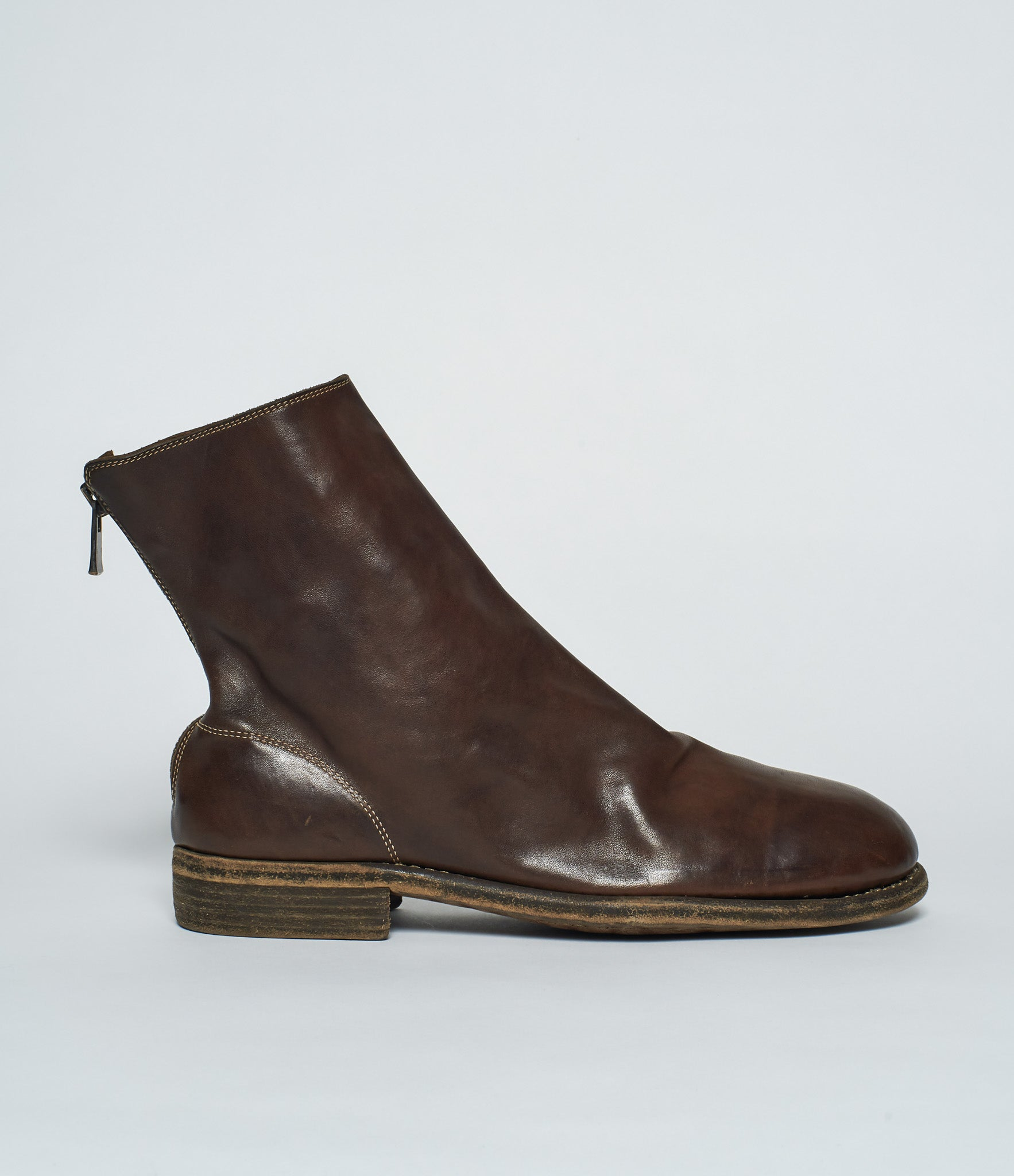 Guidi 986 Brown Horse Full Grain Back Zip Boots