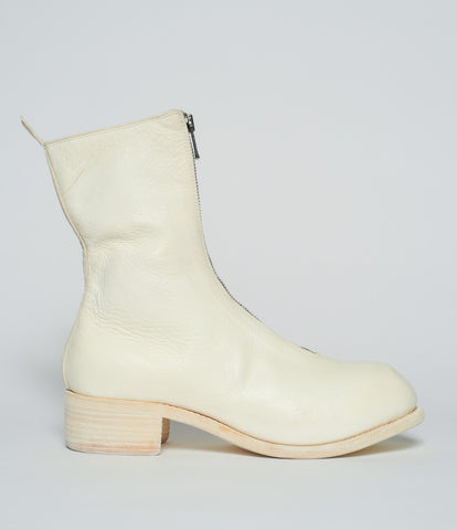 Guidi PL2 White Horse Full Grain Front Zip Calf Length Boots