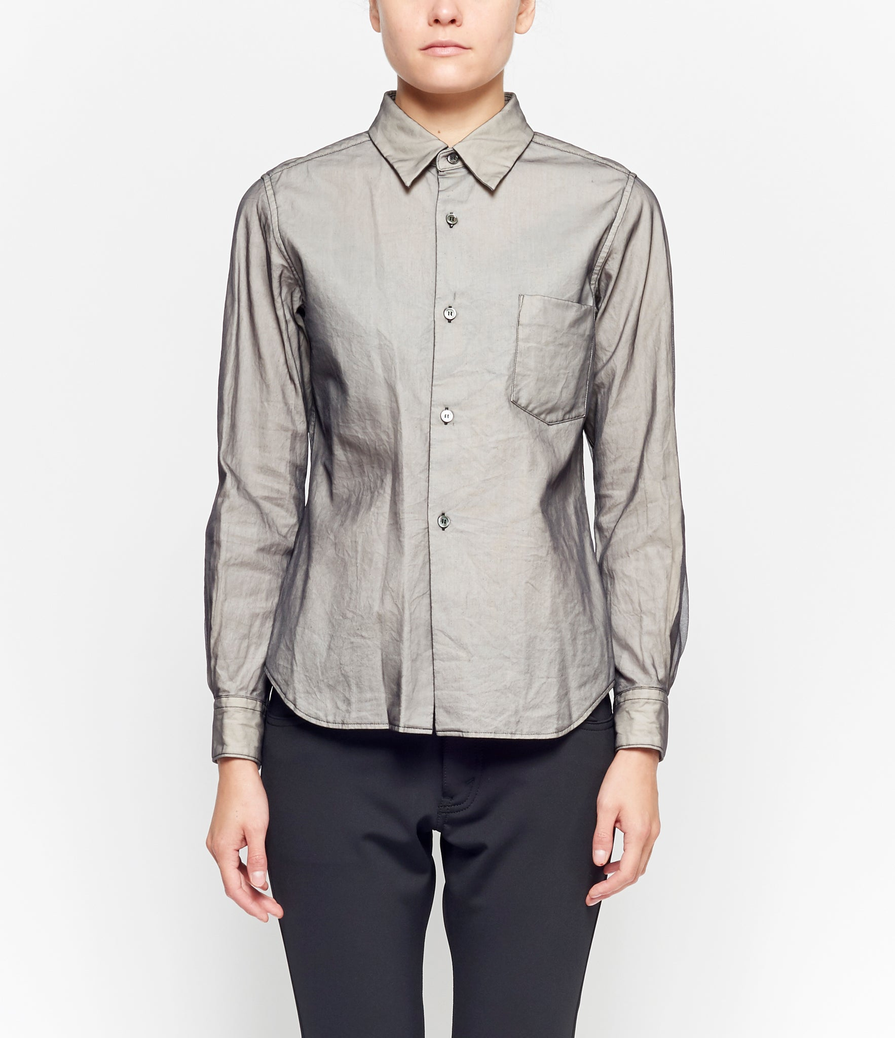Comme Des Garcons Mesh Layered Cotton Cloth Shirt