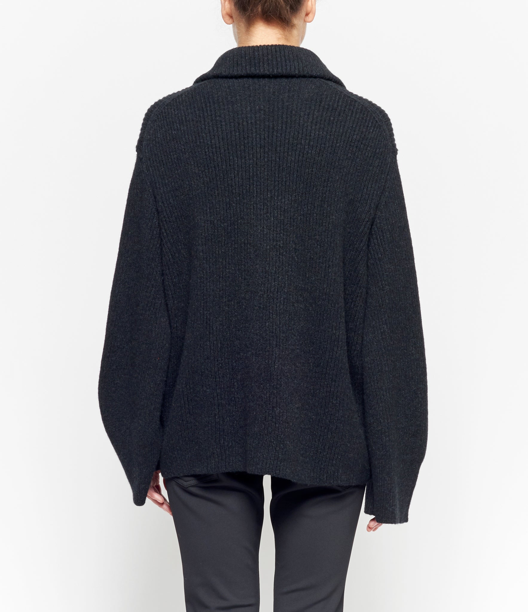 Boboutic Funnel Neck Zippered Sweater