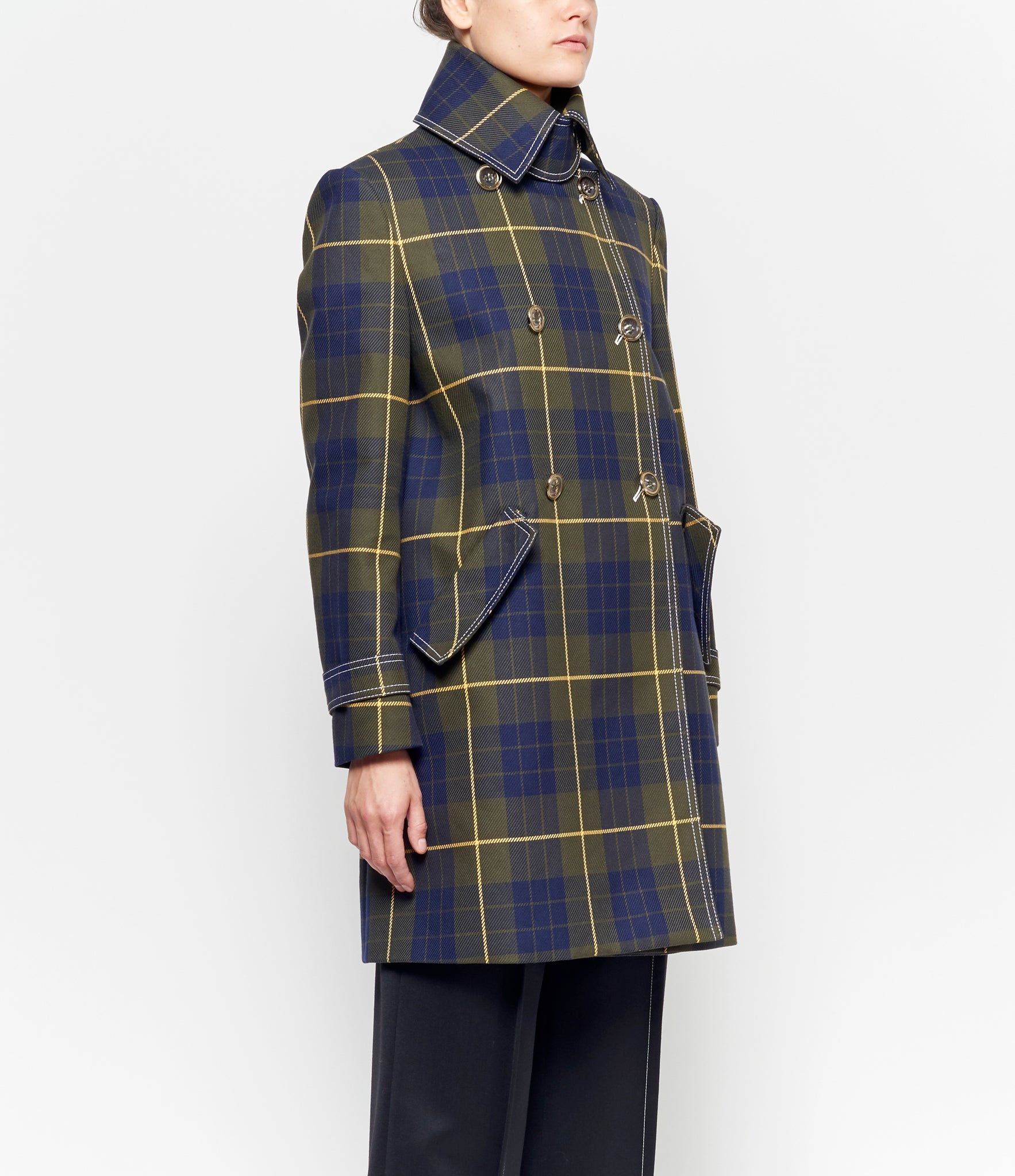 Claudia Li Plaid Hooded Jacket