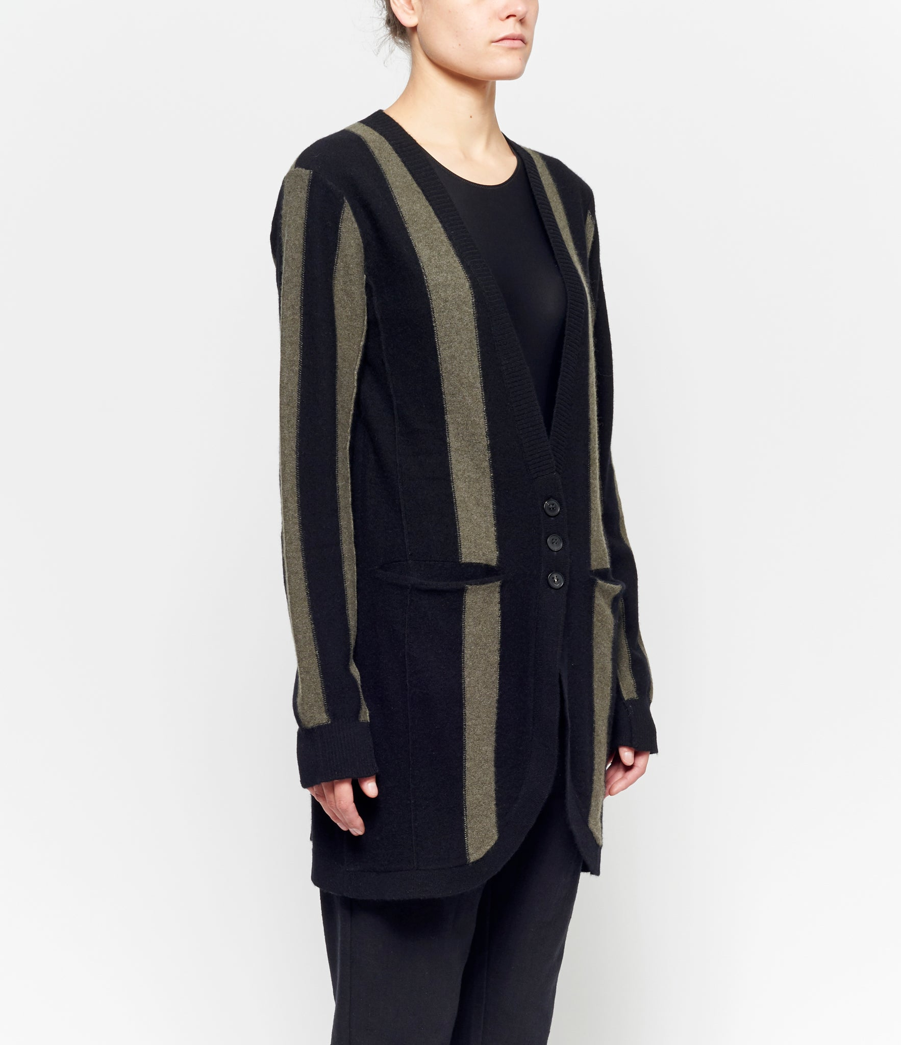 Aleksandr Manamis Striped Long Cardigan