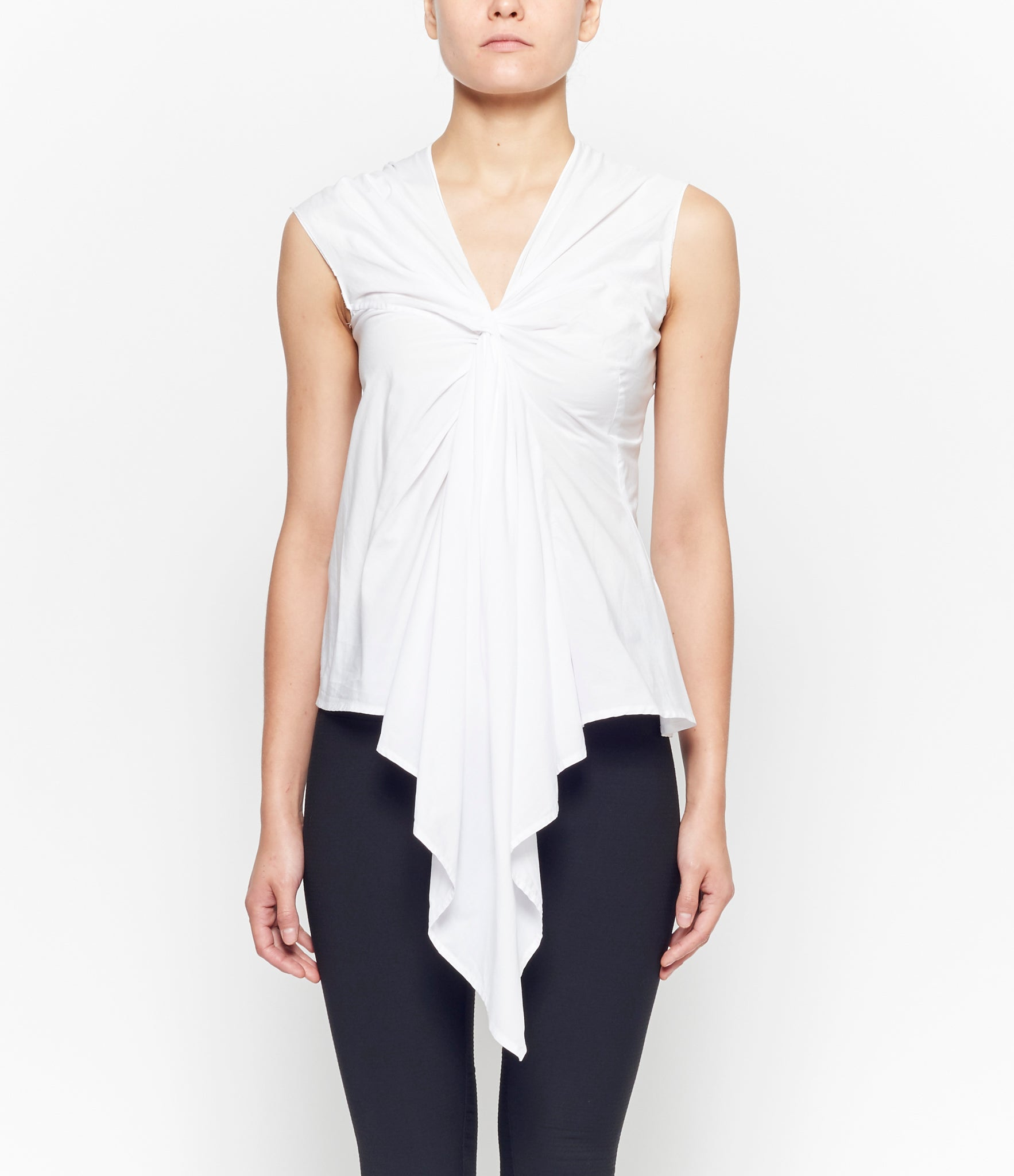 Marc Le Bihan Sleeveless Twist Neck Top