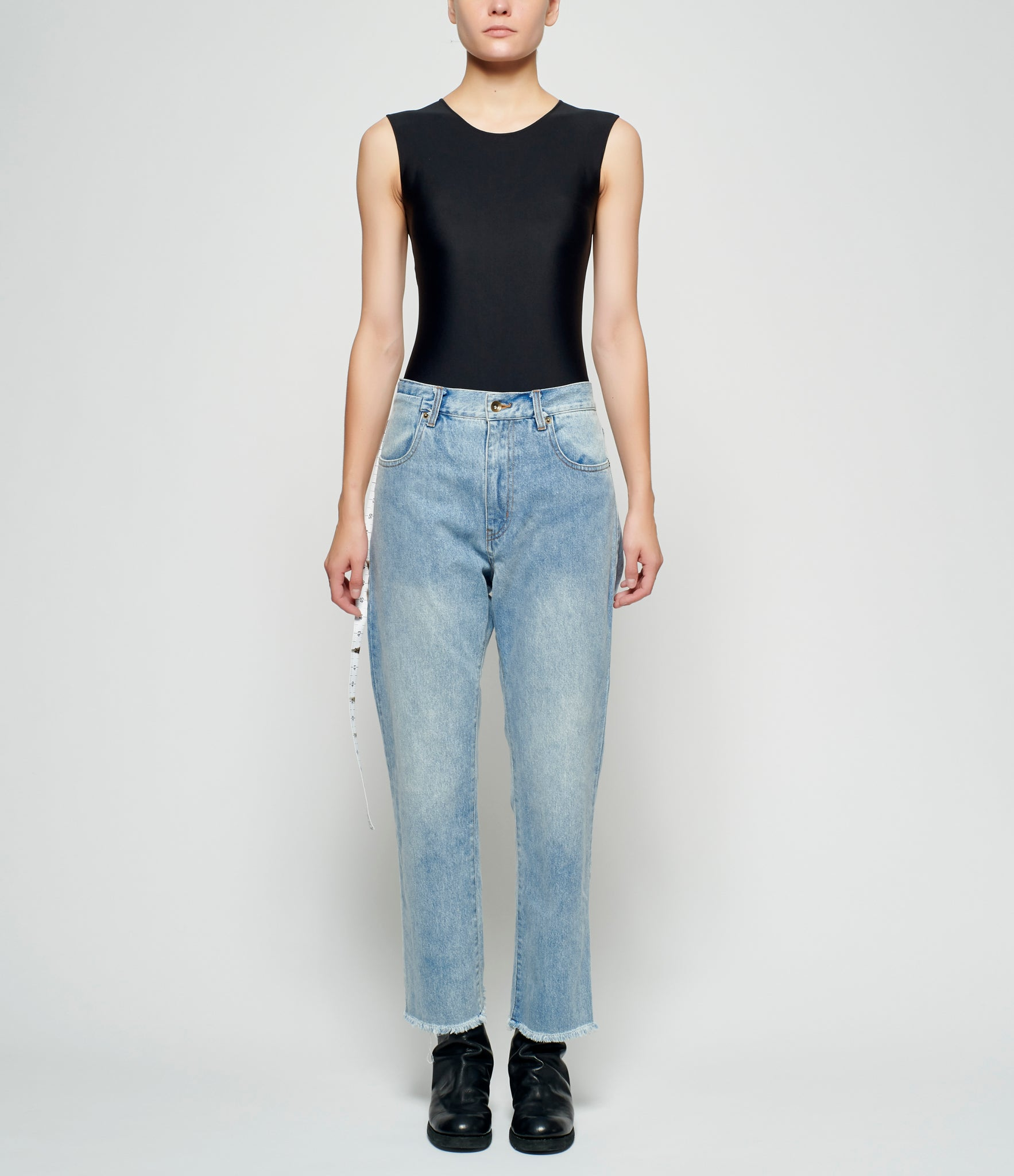 Sagittaire A Measuring Tape Denim Pants