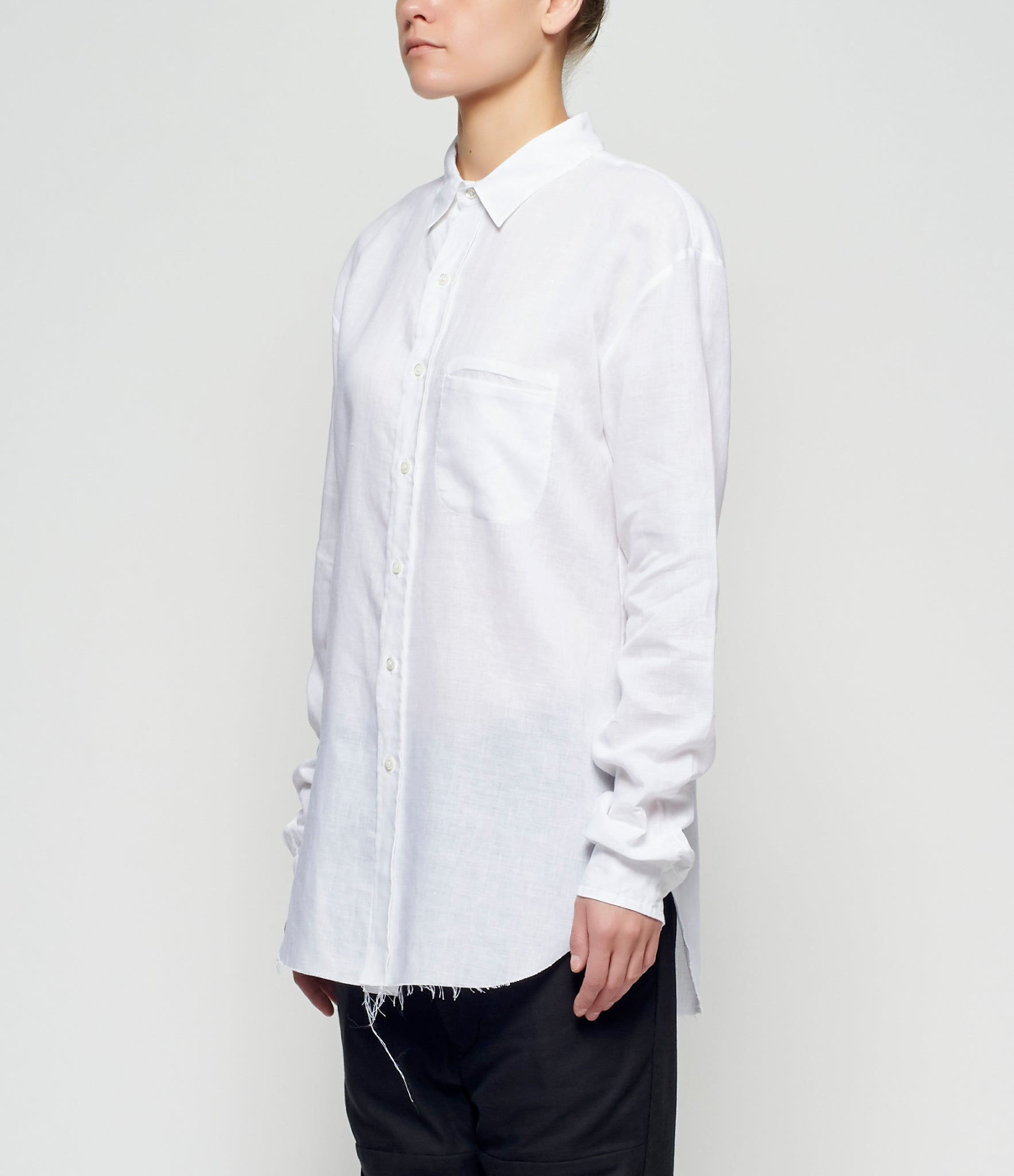 Sagittaire A Girl Graphic Linen Shirt
