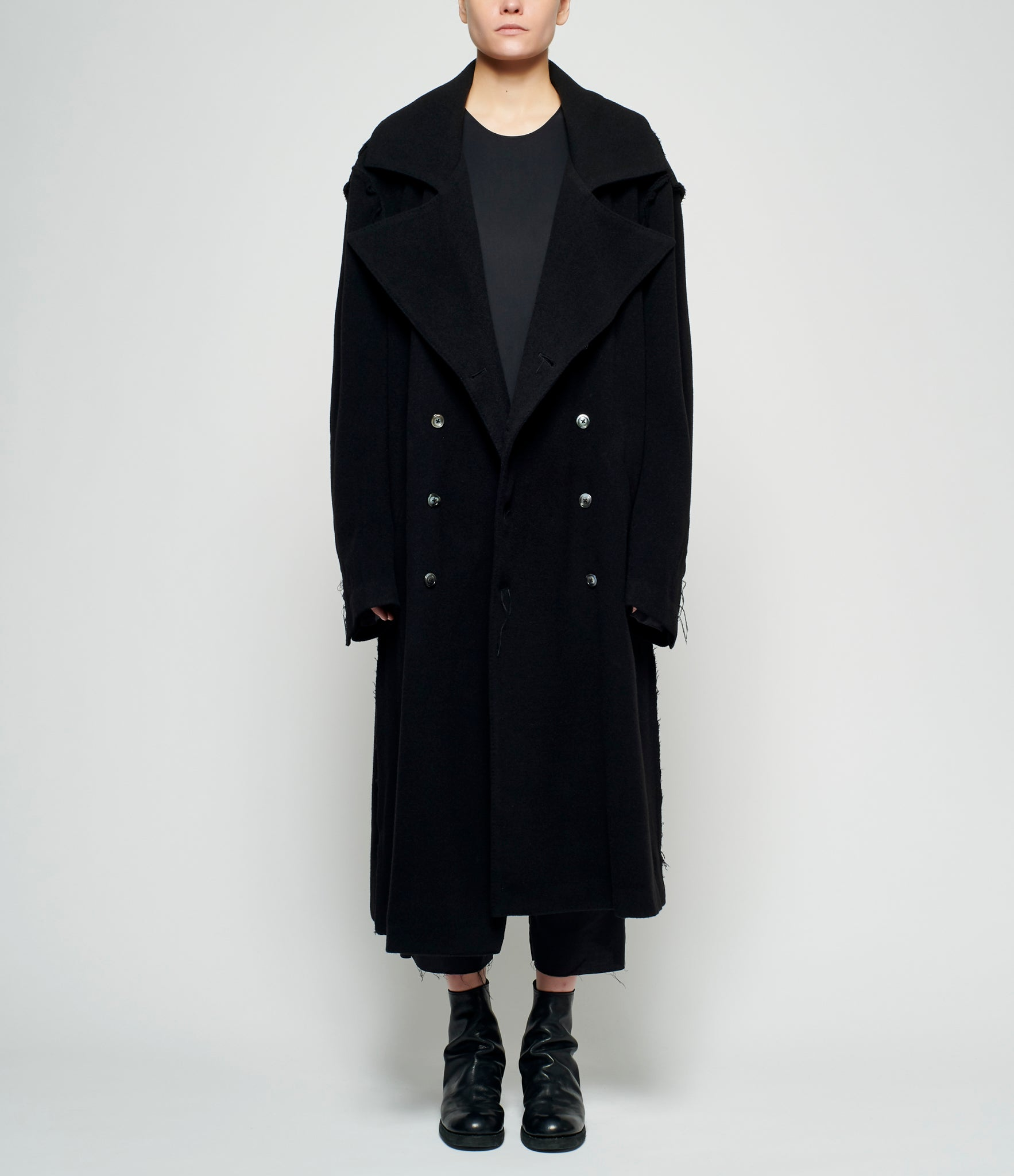 Sagittaire A Frayed Seam Oversized Trench Coat