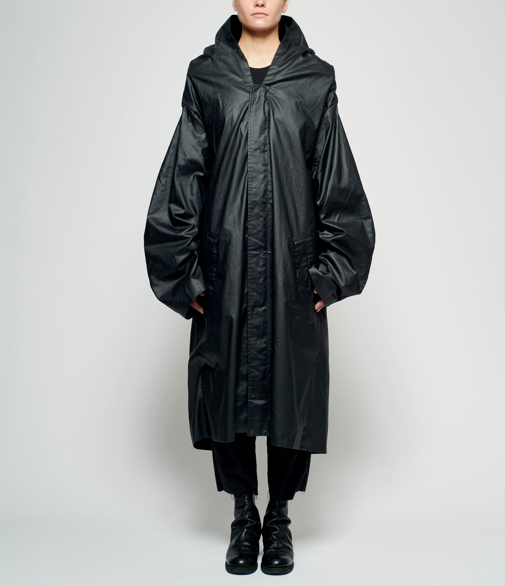 Sagittaire A Marlboro Graphic PVC Coated Cotton Hooded Mac Coat