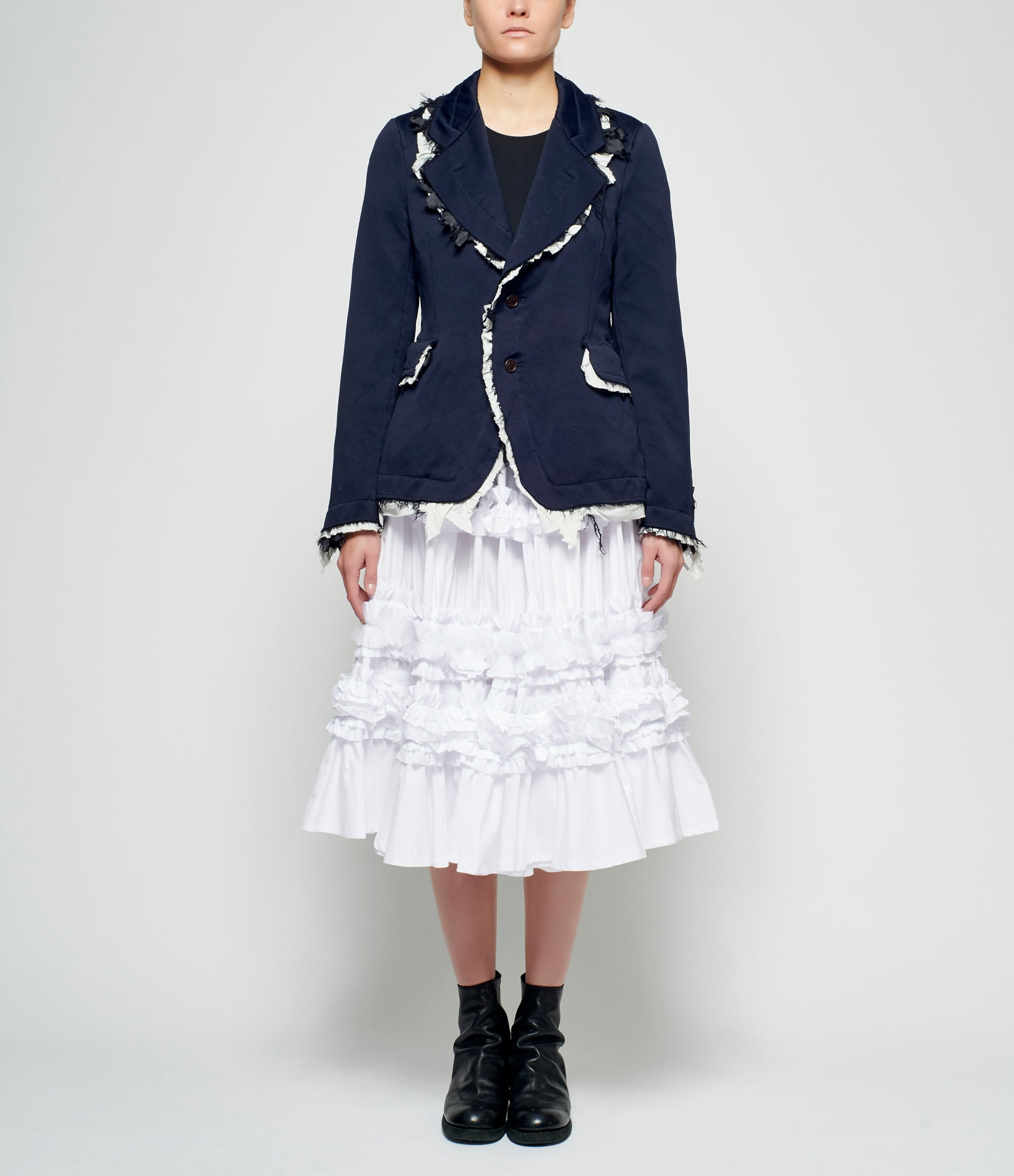 online store 62daa 42c96 Comme Des Garcons Navy Washed Polyester Jacket – IfSohoNewYork
