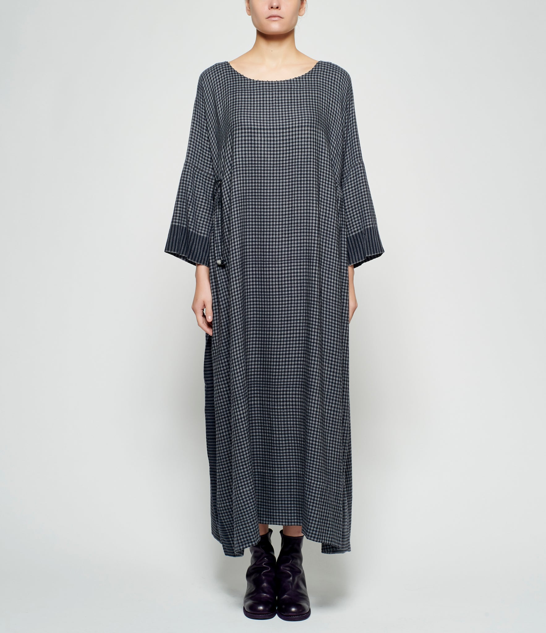 Pero Small Checkered Wool Flannel Dress