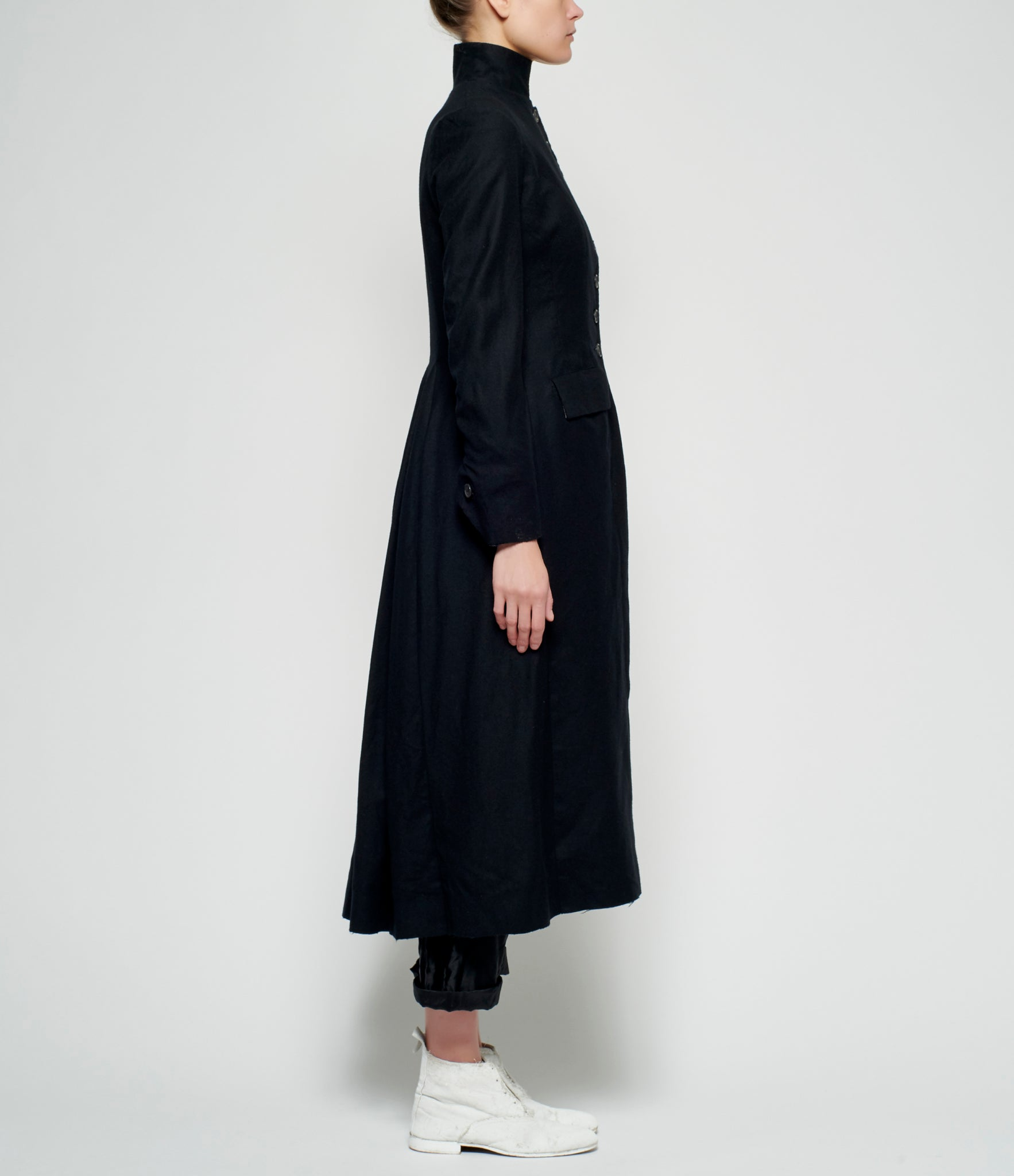 Elena Dawson 8 Button Wool Cashmere Coat