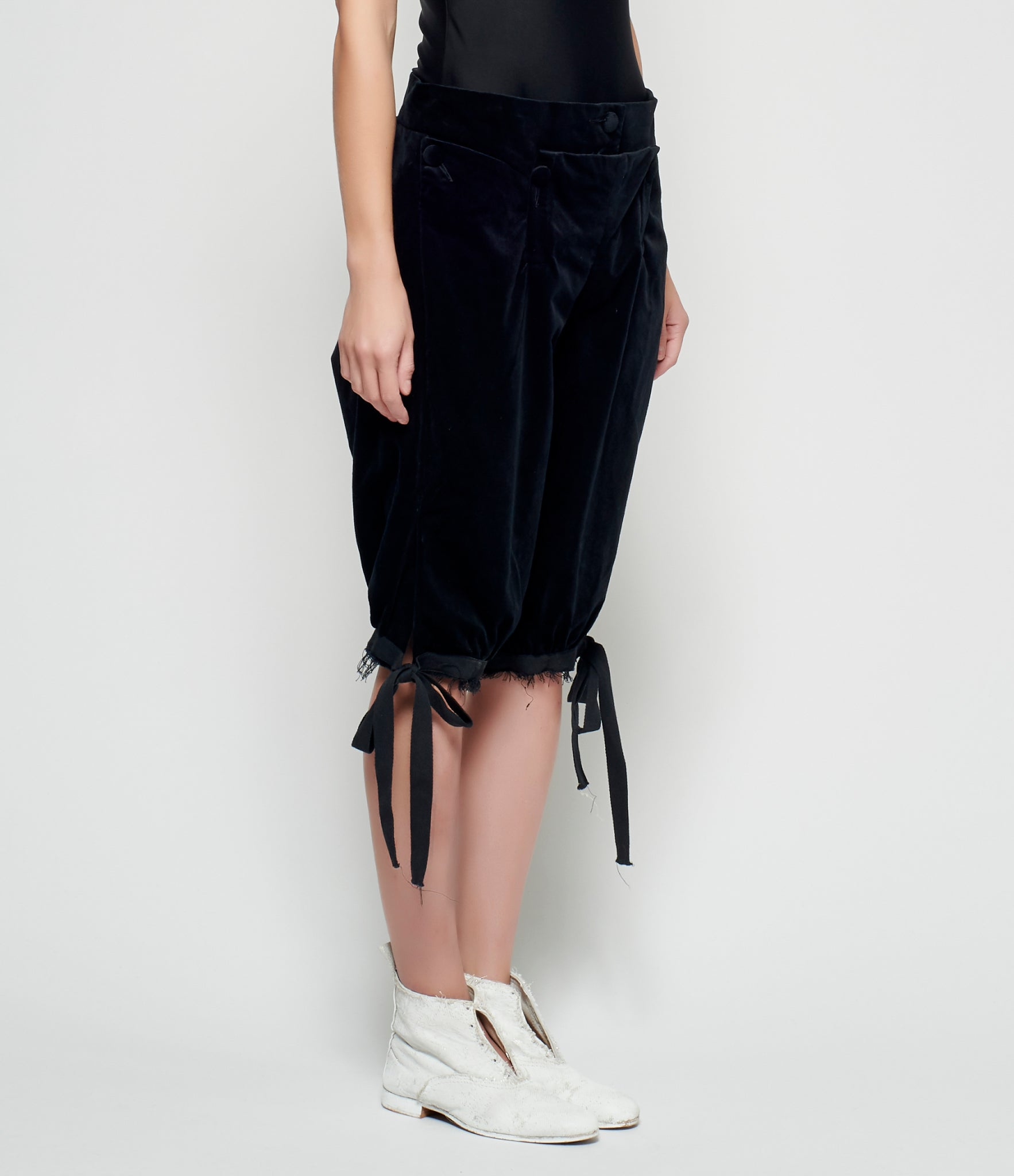 Elena Dawson Black Velvet Knickerbocker Trousers