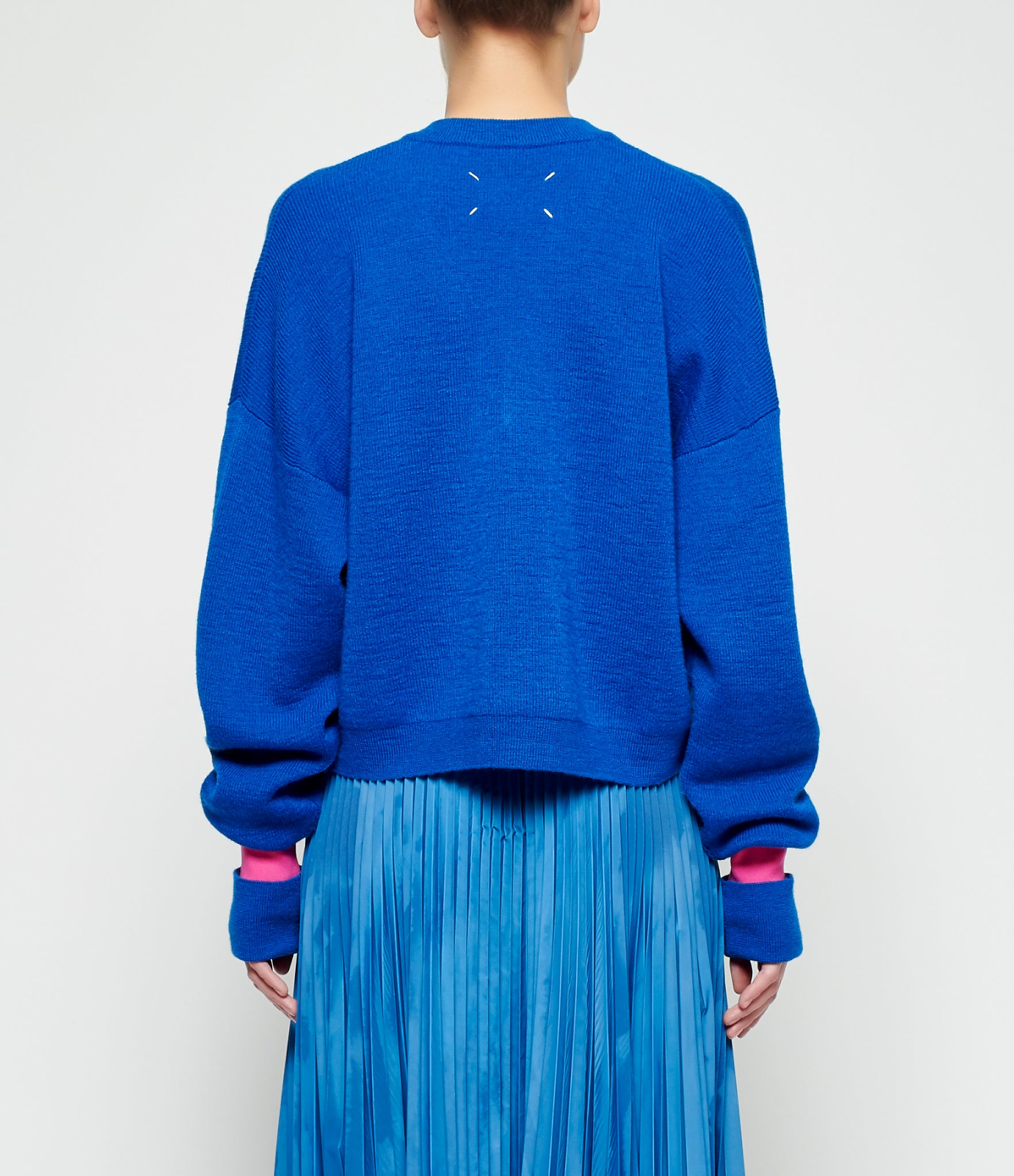 Maison Margiela Heavy Gauge Colorblock Runway Sweater