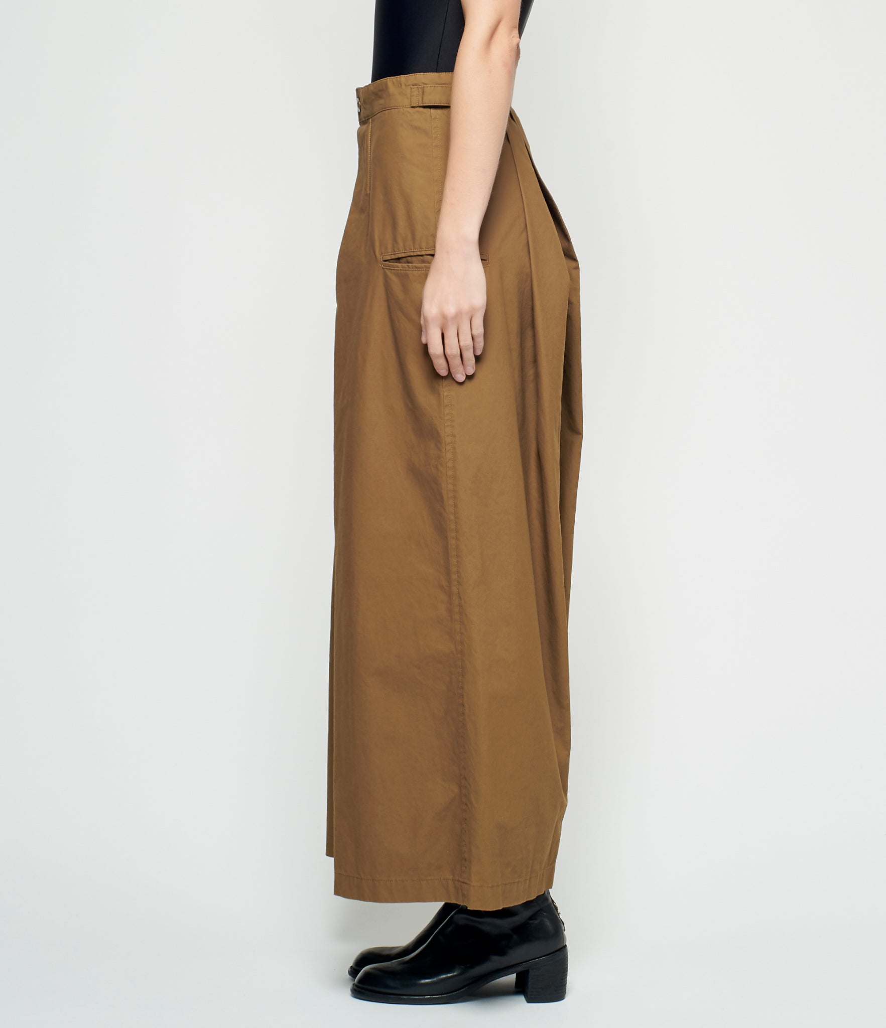 Y's Pleated Khaki Wide Pants