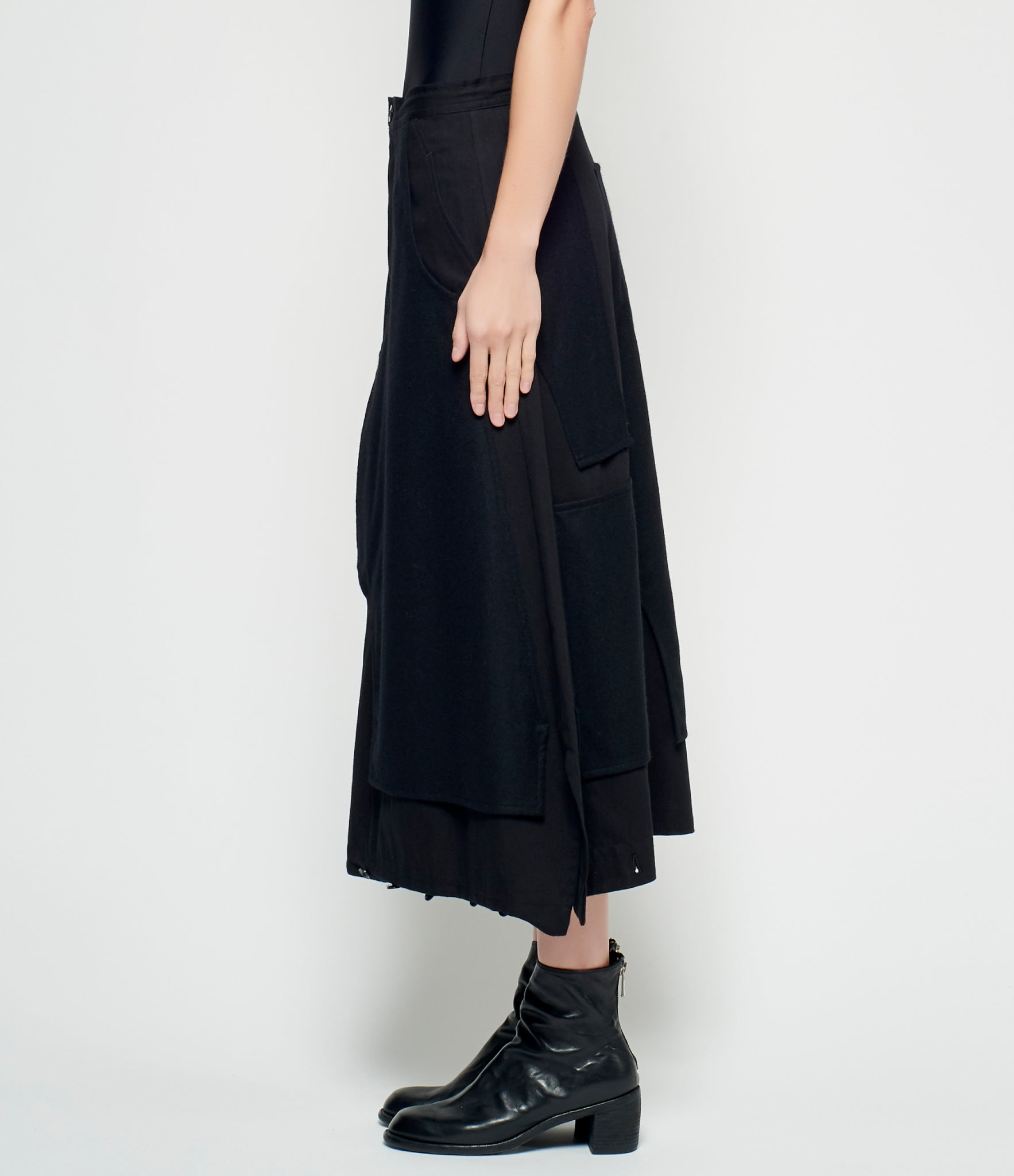 Y's Flannel Patch Skirt Pants