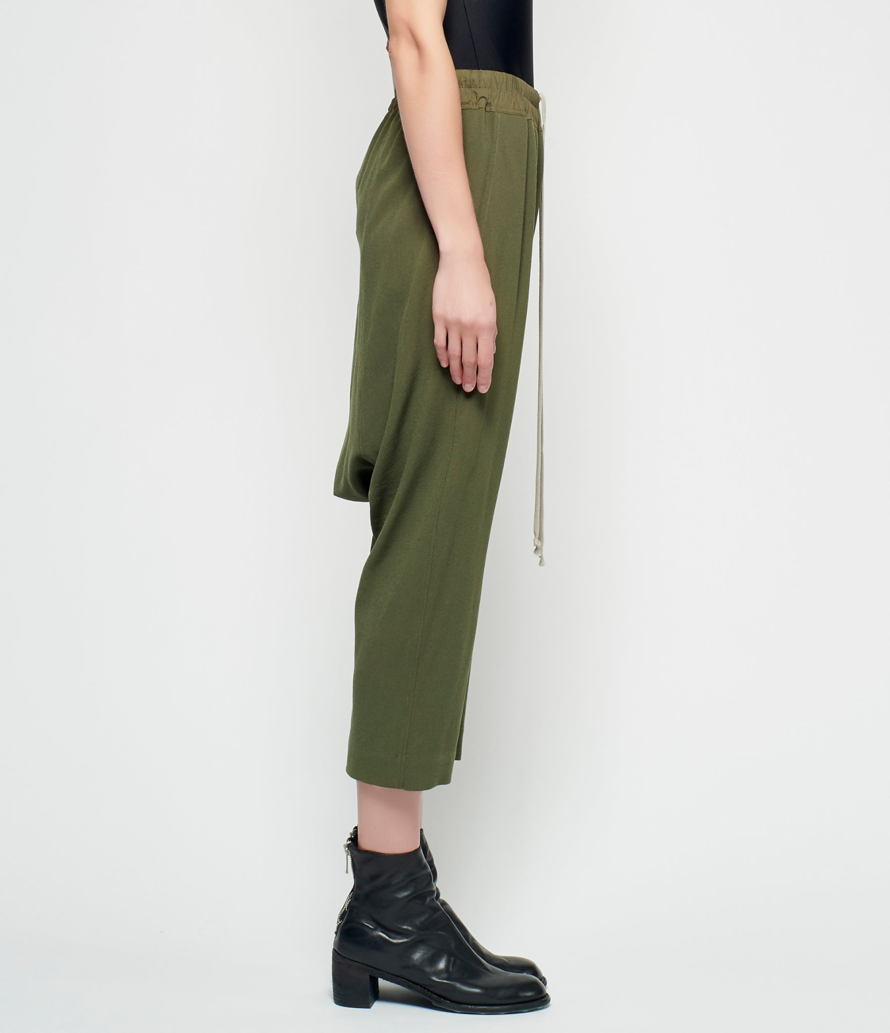 Rick Owens Light Crepe Cropped Pants