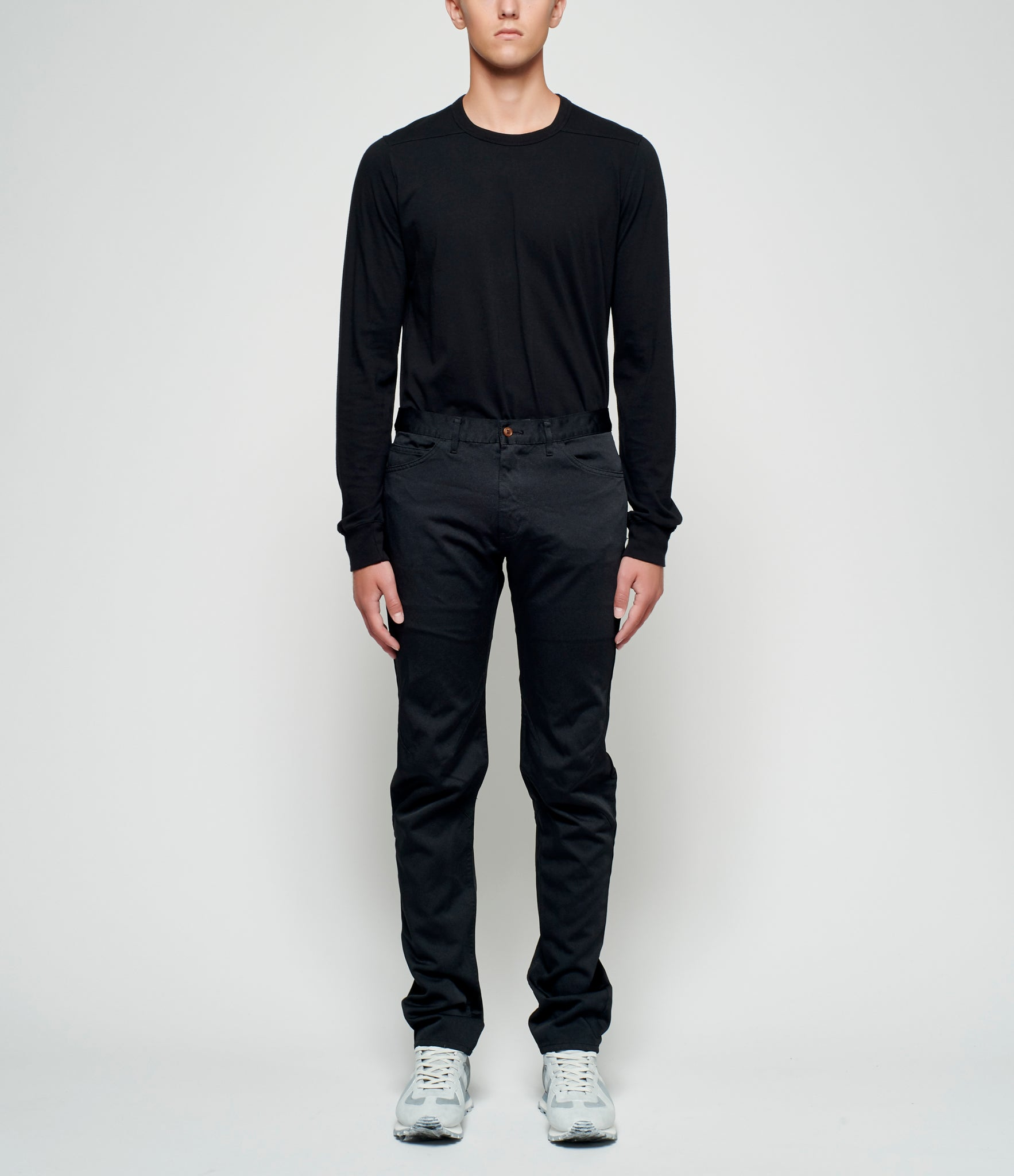Comme Des Garcons Homme Plus Polyester Satin Knee Darted Pants