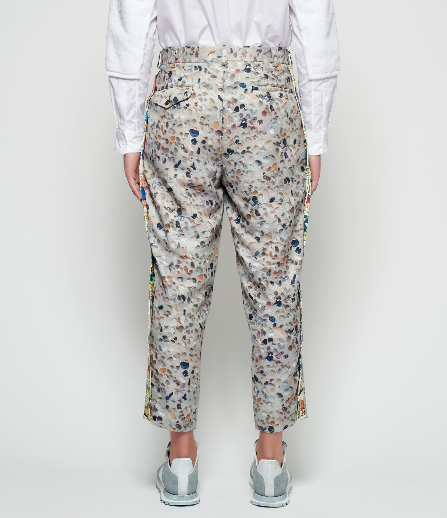 Comme Des Garcons Homme Plus Inkjet Graphic Polyester Gabardine Trousers
