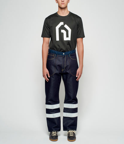 Junya Watanabe Reflective Striped Denim Pants