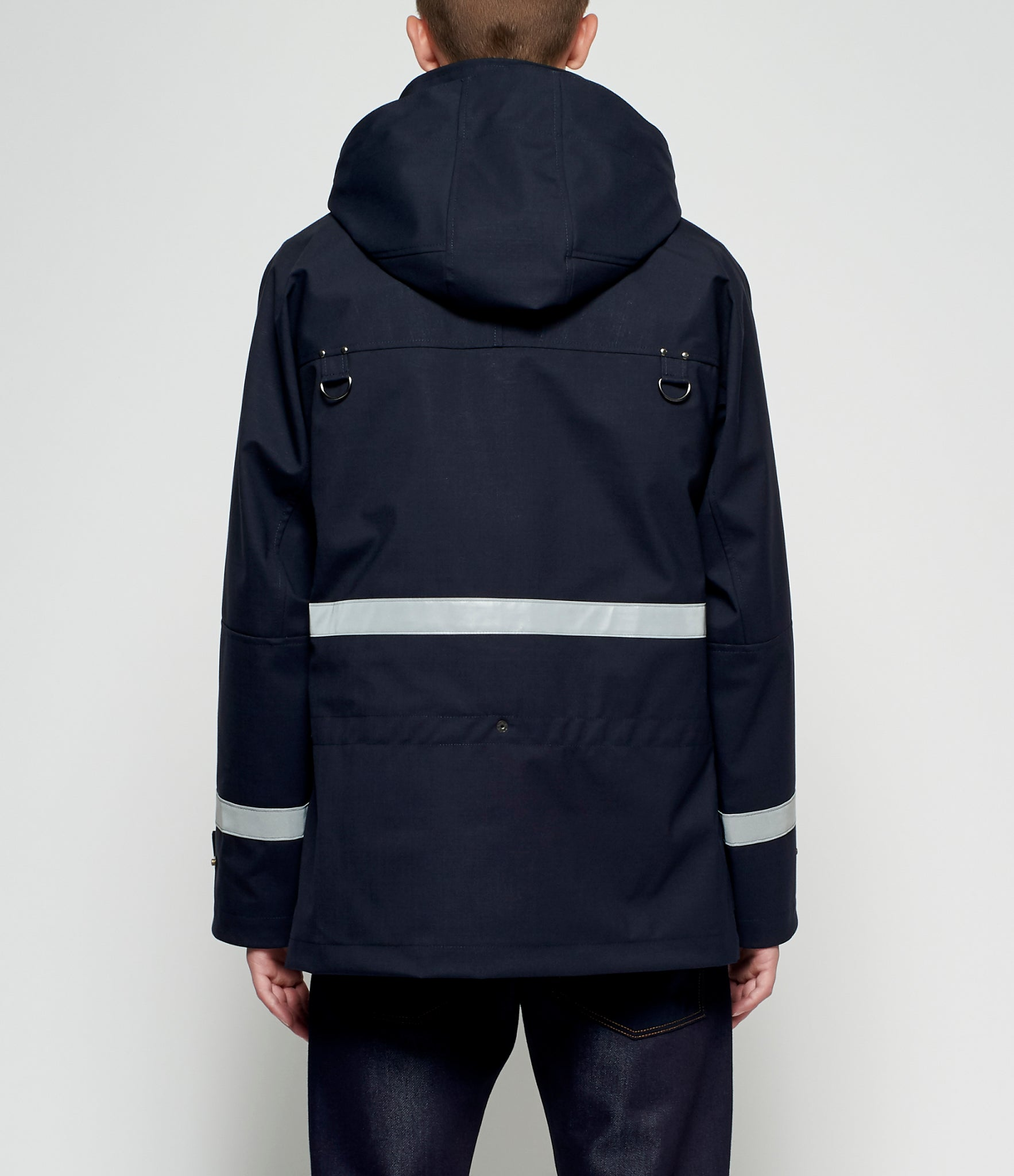 Junya Watanabe Laminated Polyester Wool Fire Fighter Bag Jacket