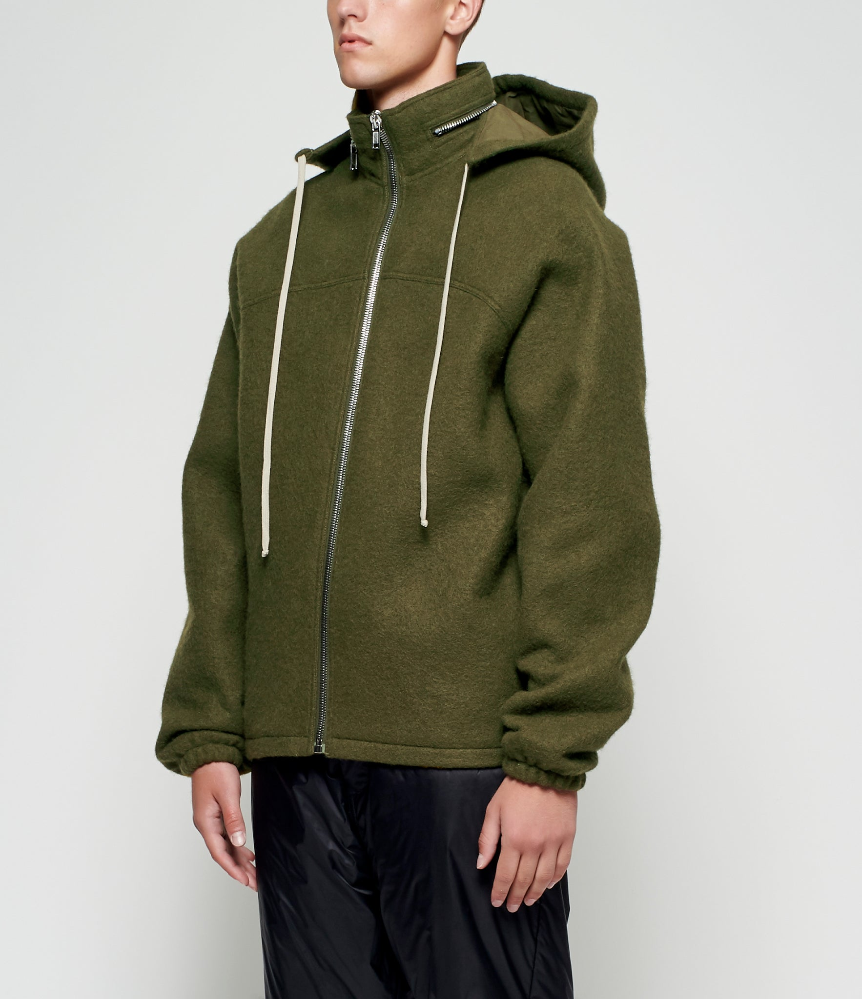 Rick Owens Boiled Wool Windbreaker
