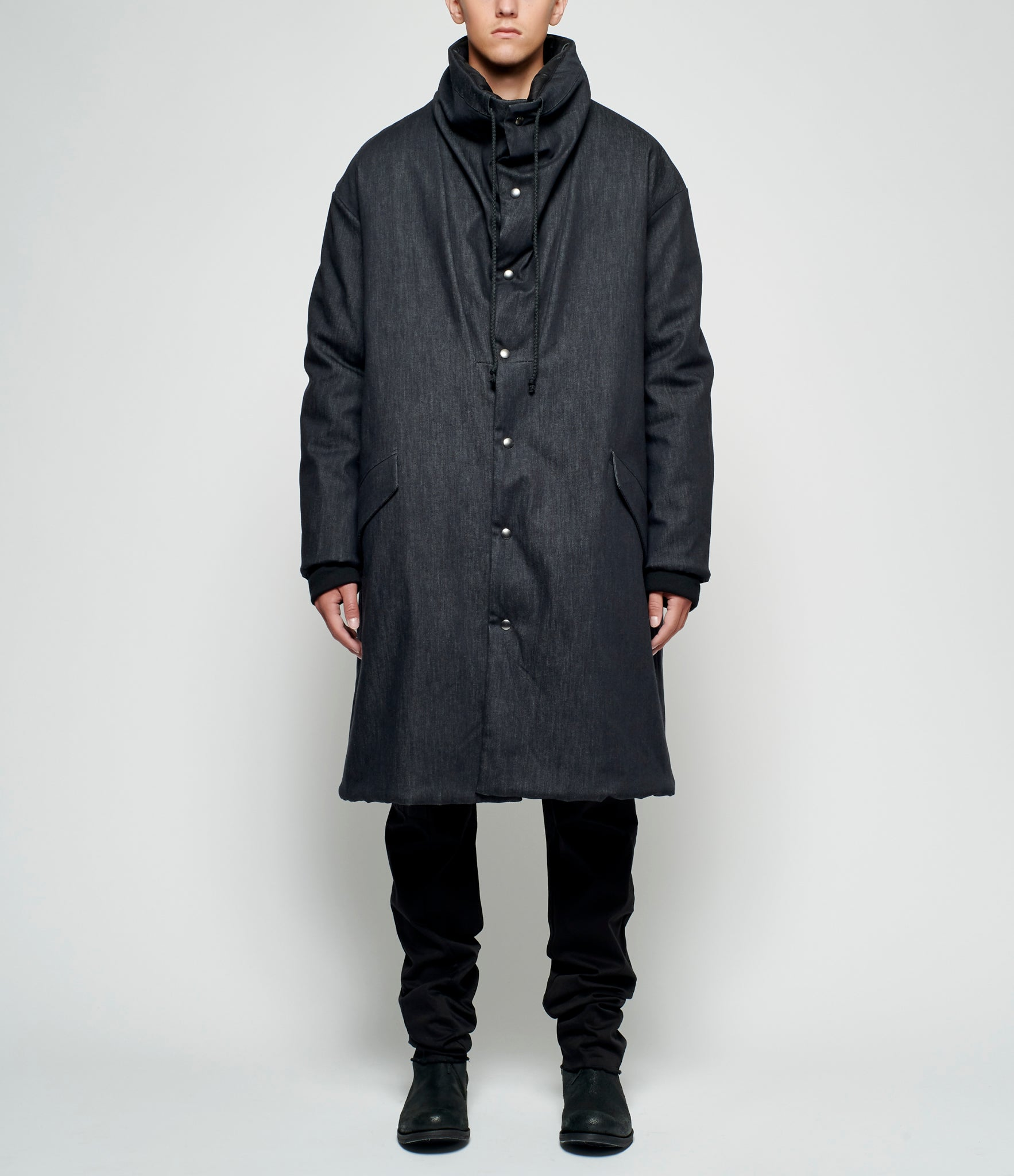 Lost & Found Rooms Reversible Padded Denim Coat