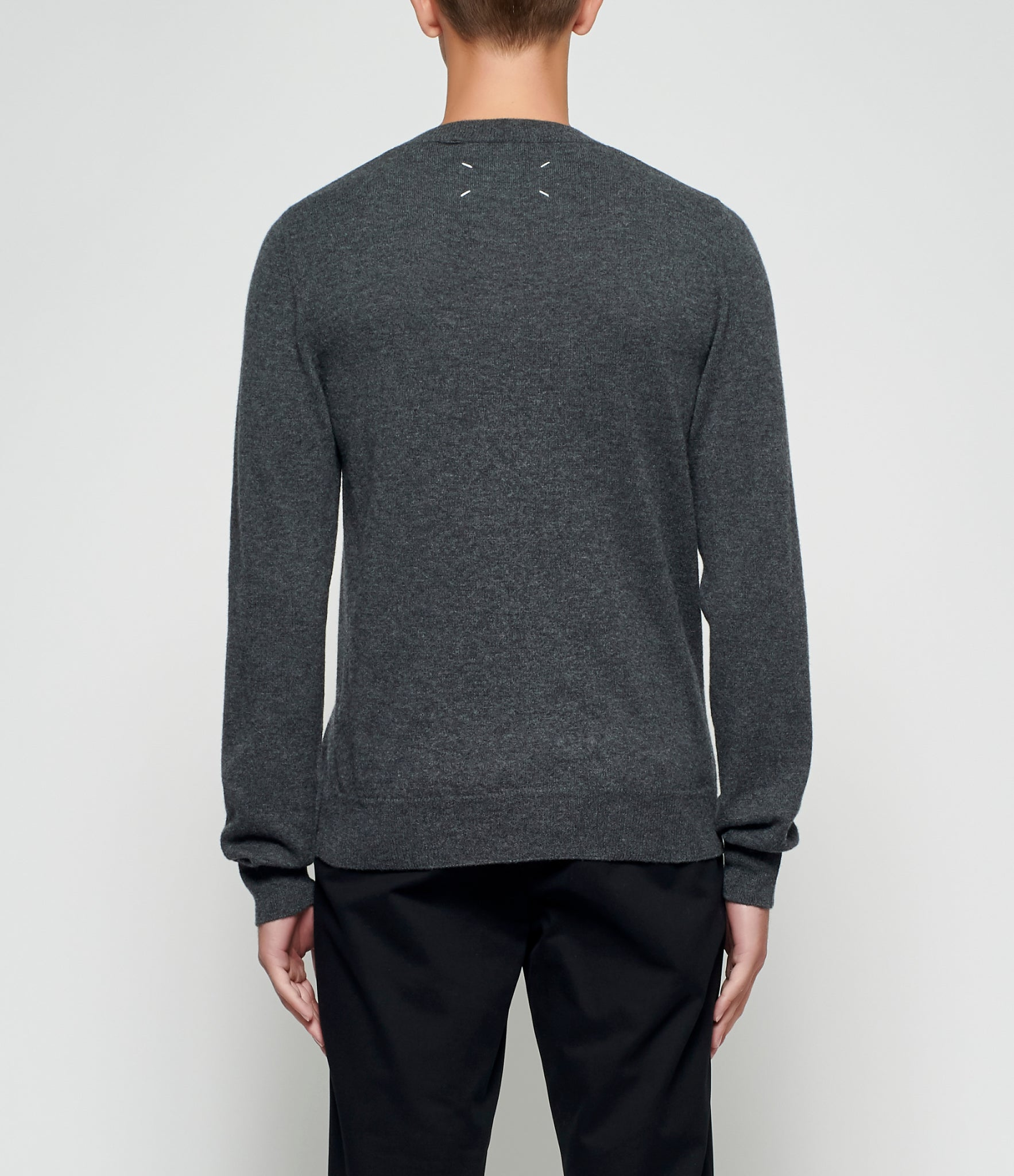 Maison Margiela Distressed Charcoal Sweater