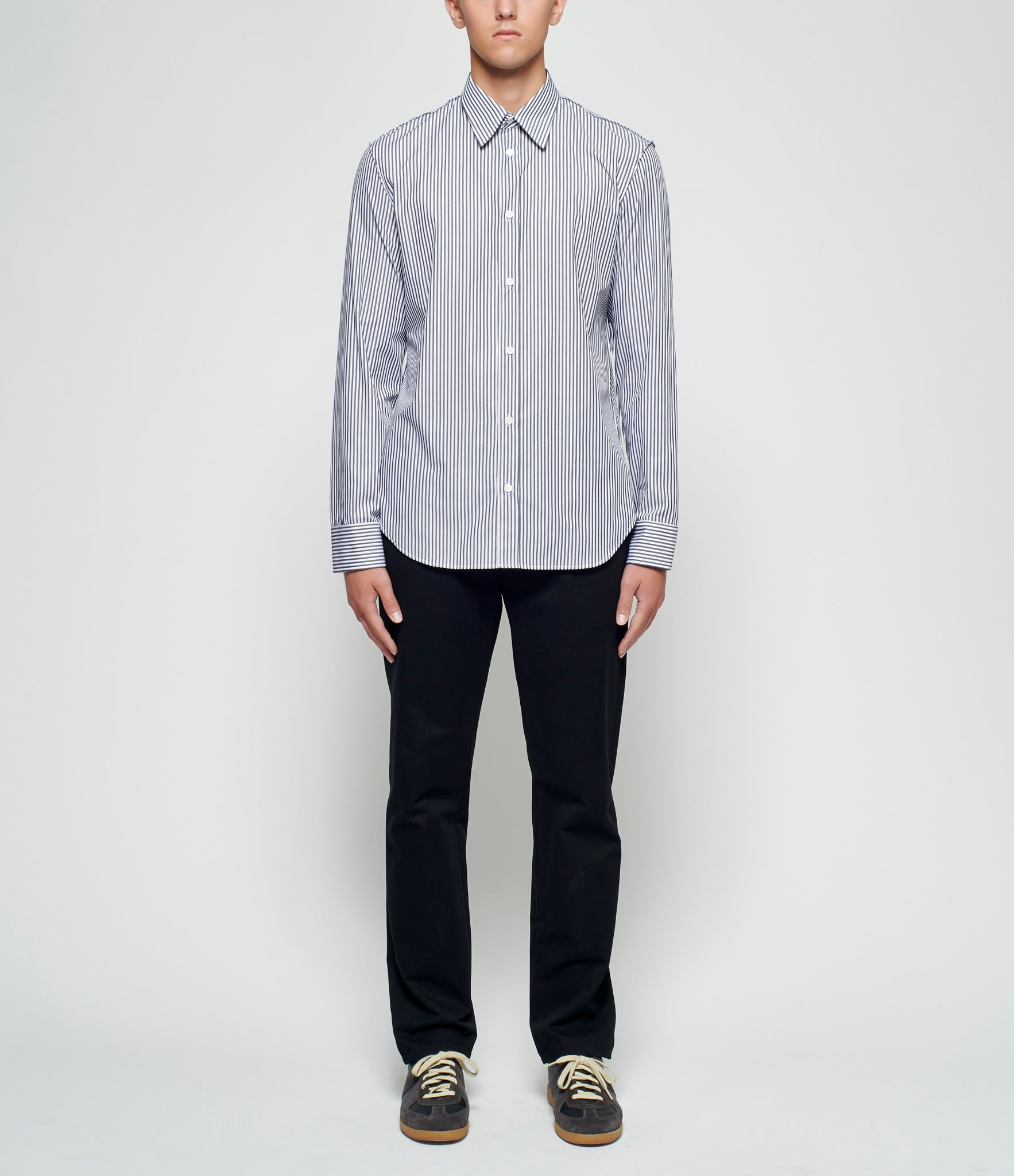 Maison Margiela Raised Seam Classic Striped Shirt