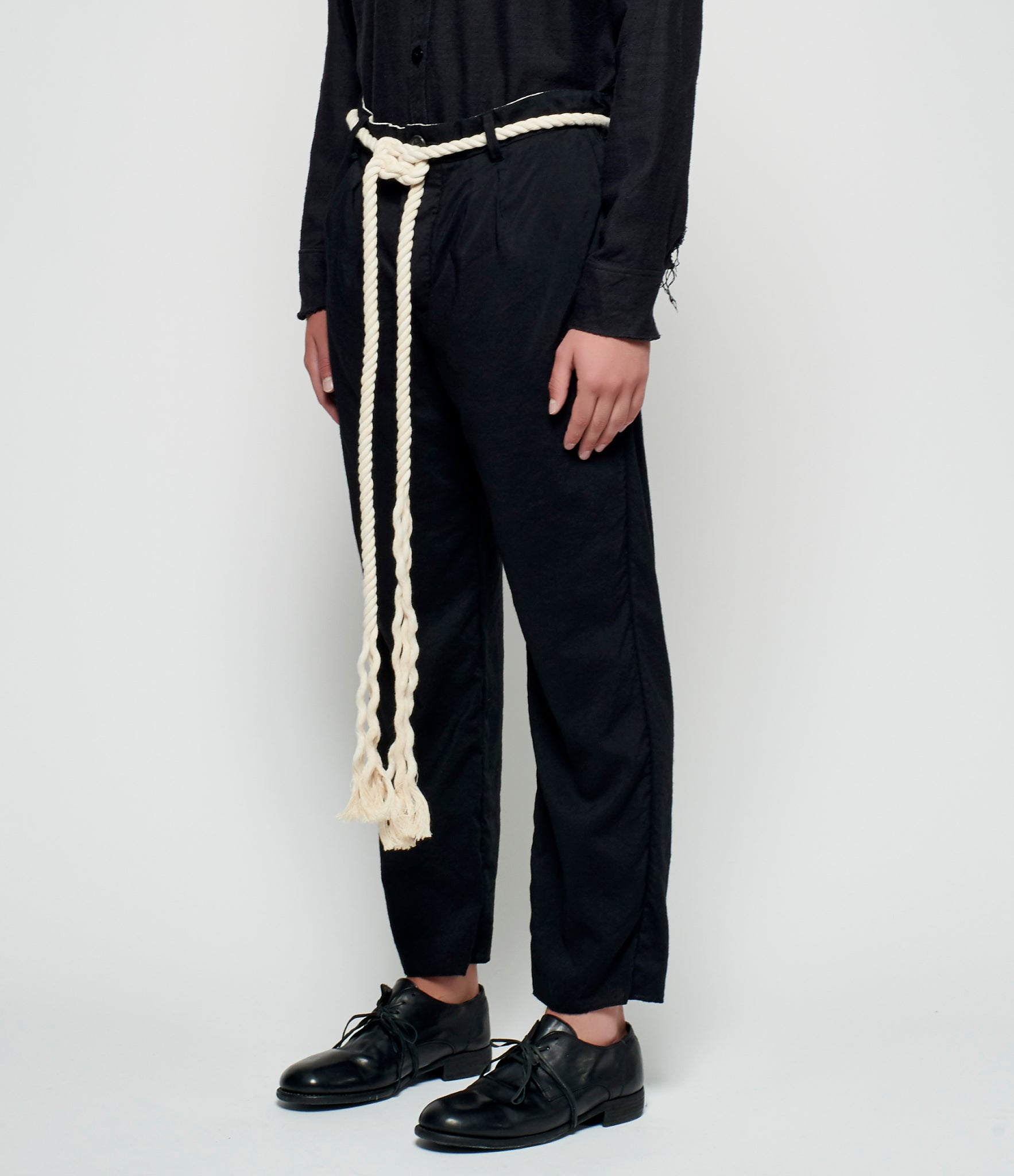 Elena Dawson Baggy Cropped Rope Belt Trousers